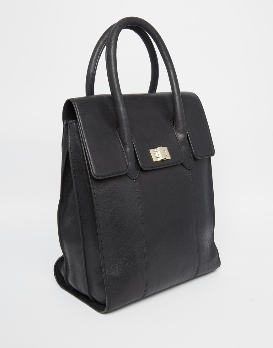 Lyst - Urbancode Leather Tote Backpack in Black