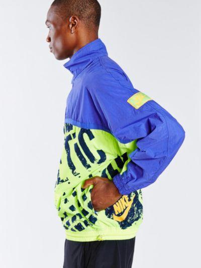 Lyst - Urban Outfitters Vintage Neon Nike Windbreaker in Blue for Men ba9c05702