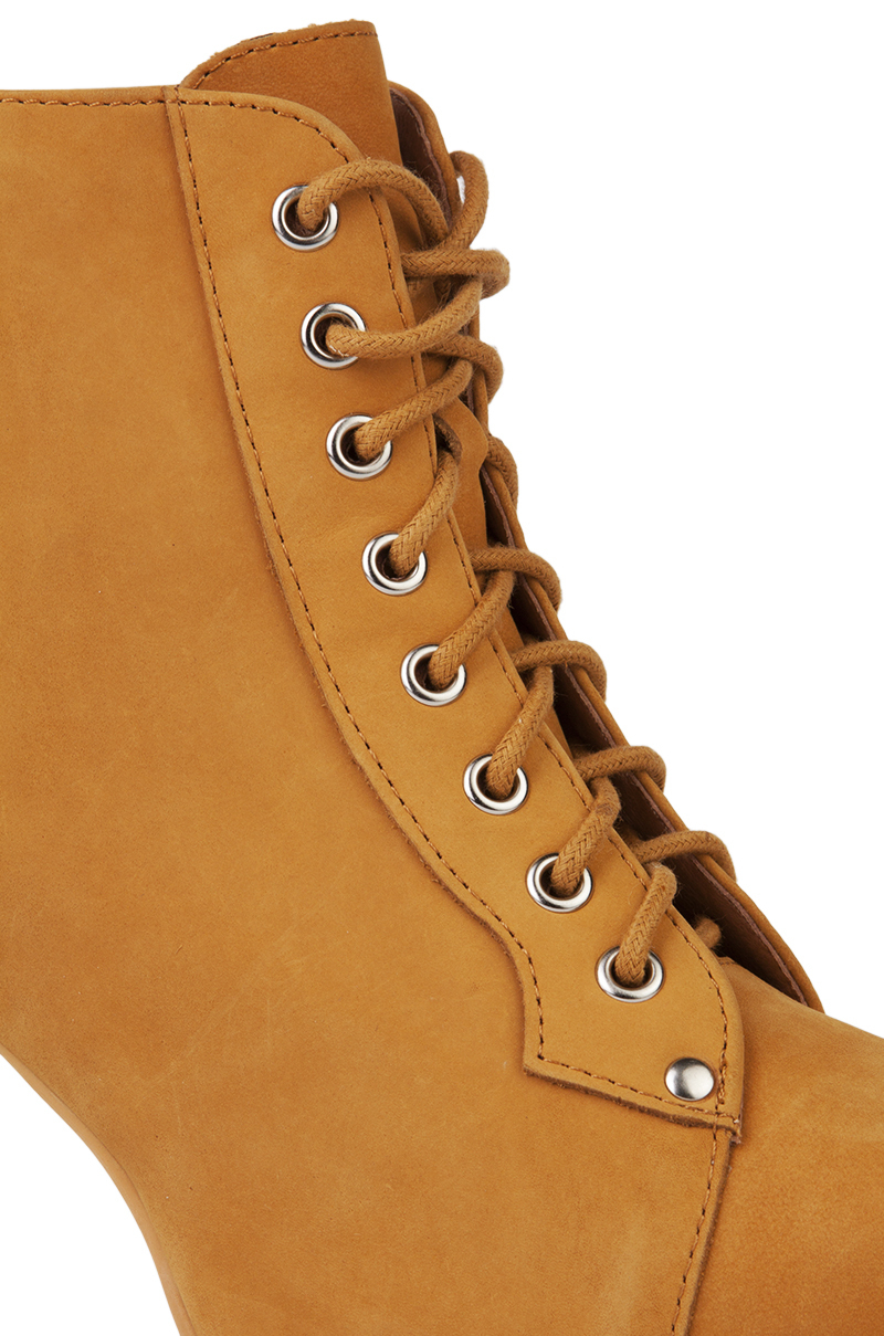 b2ebe7fef2c73c Jeffrey Campbell Lita Platform Bootie In Wheat Nubuck in Brown - Lyst