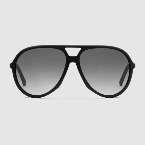 5278596e2fbdc Black Gucci Aviator Sunglasses