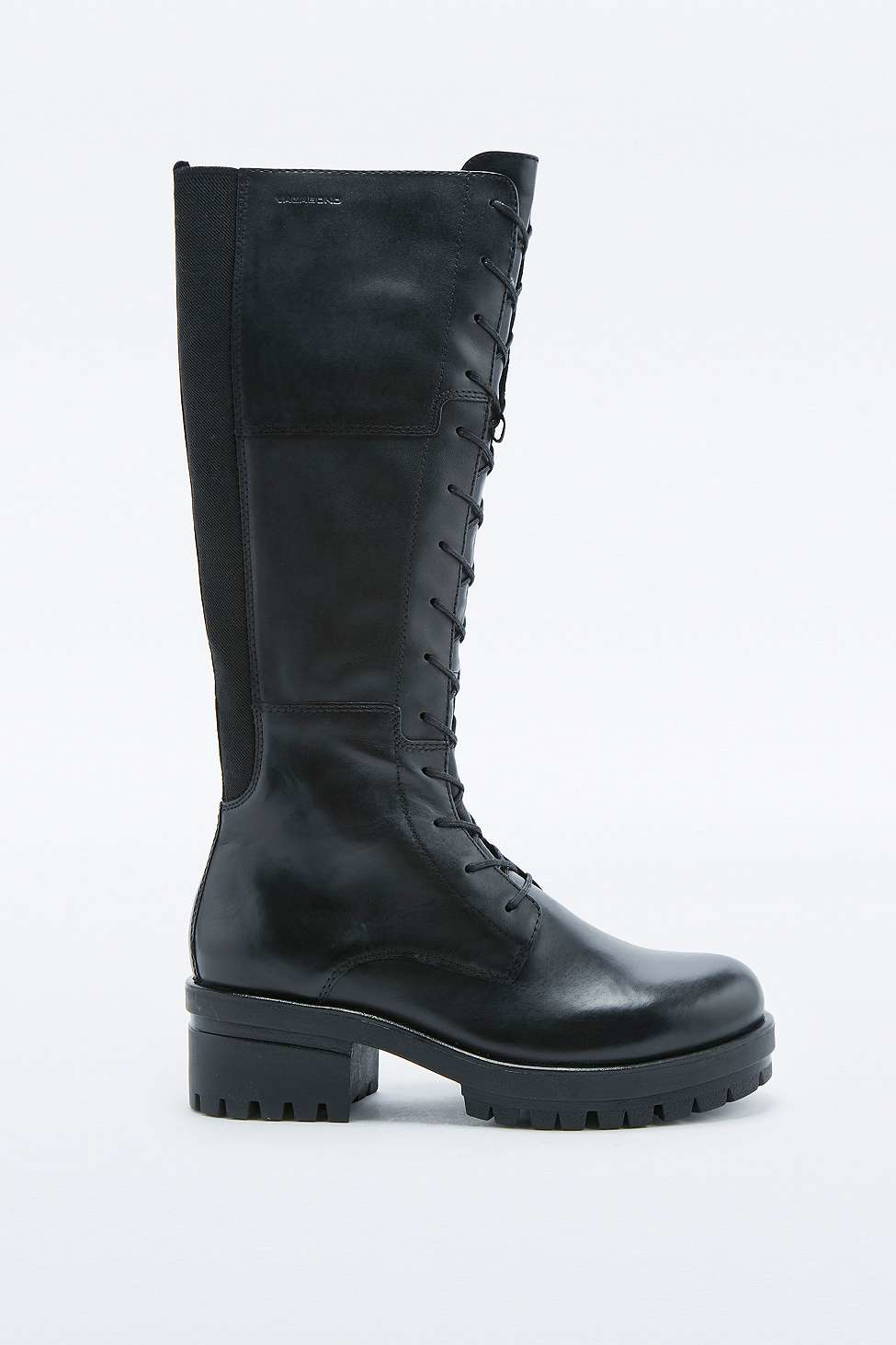 vagabond lace up knee high boots in black lyst