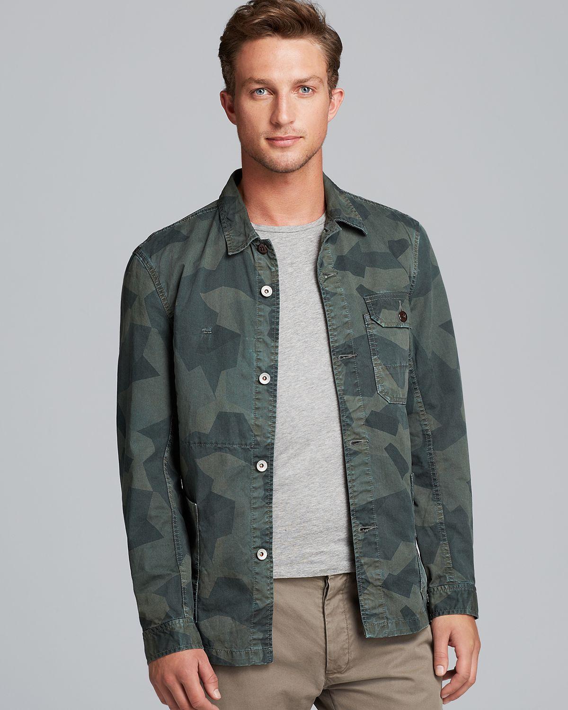 Jack spade buckner camo work jacket in green for men lyst for Bear river workwear shirts