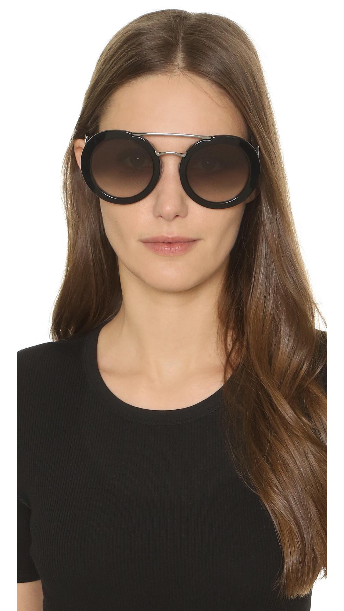 799dace6dc45c Lyst - Prada Catwalk Oversized Sunglasses in Black