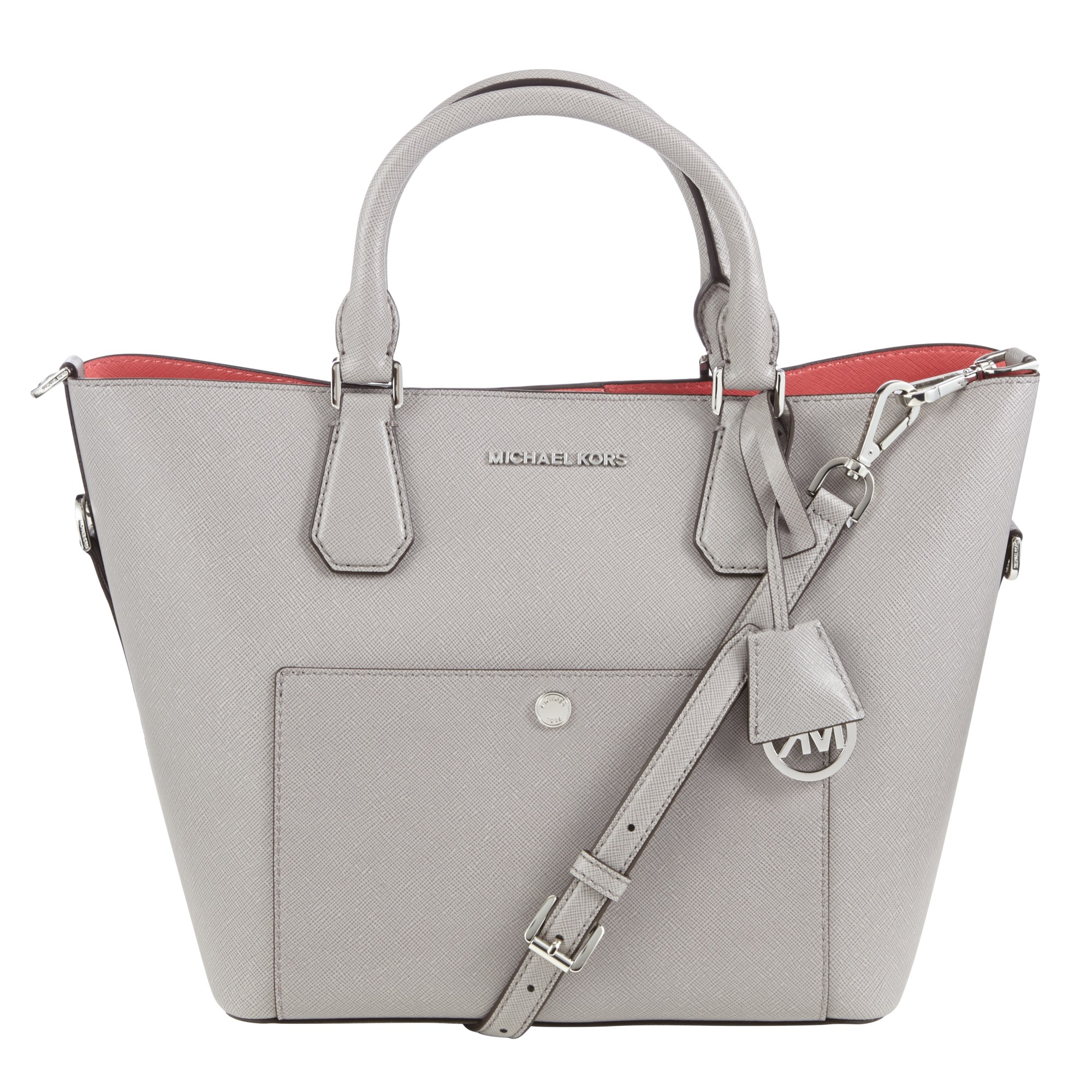 MICHAEL Michael Kors Greenwich Large Grab Bag in Gray - Lyst aee8826f8f629
