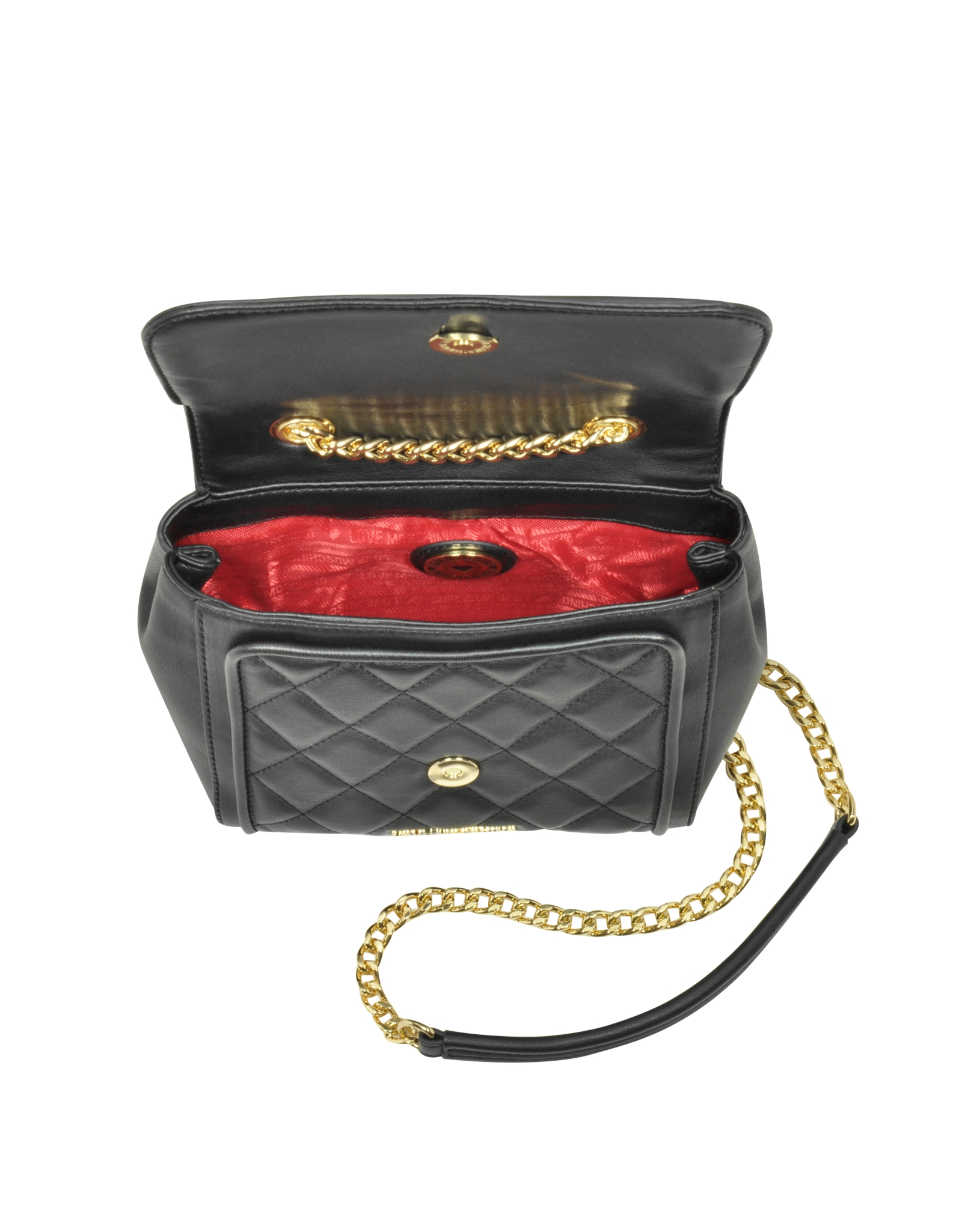 Lyst Love Moschino Small Quilted Eco Leather Crossbody