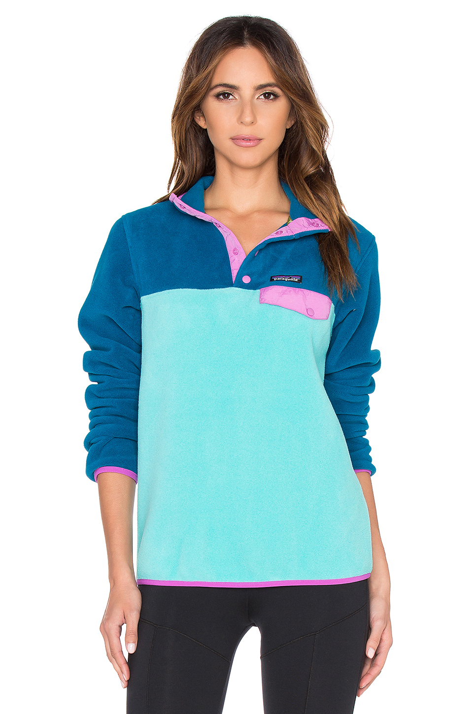 163a80b036 Lyst - Patagonia Lightweight Synchilla Snap T Pullover in Blue