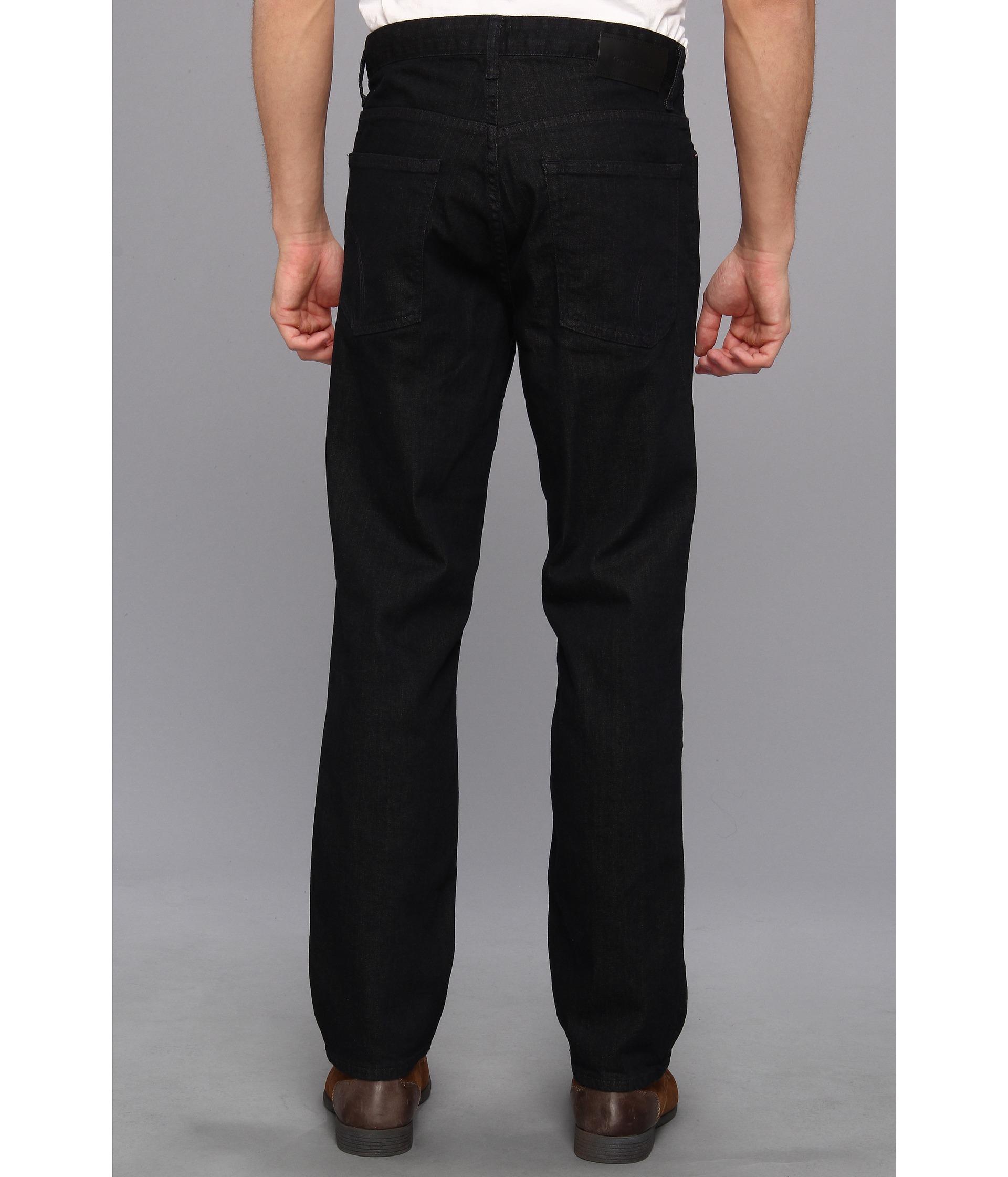 calvin klein jeans slim straight denim in tinted rinse in. Black Bedroom Furniture Sets. Home Design Ideas