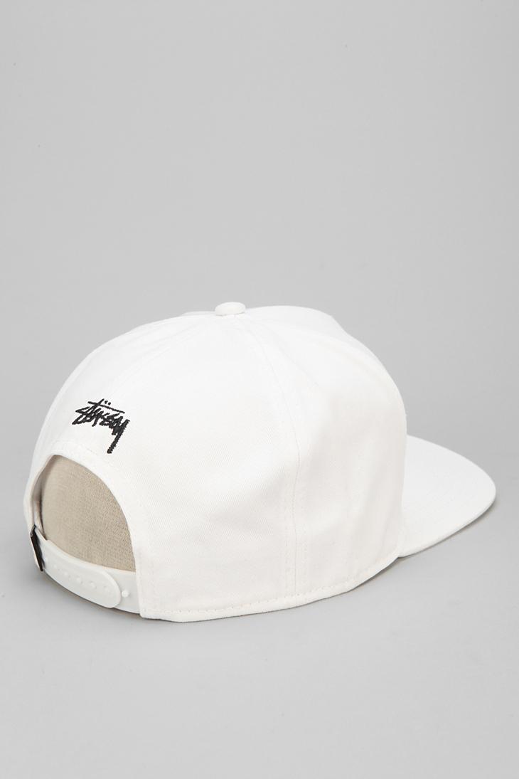 37bbd88986e Lyst - Stussy Greek Snapback Hat in White for Men