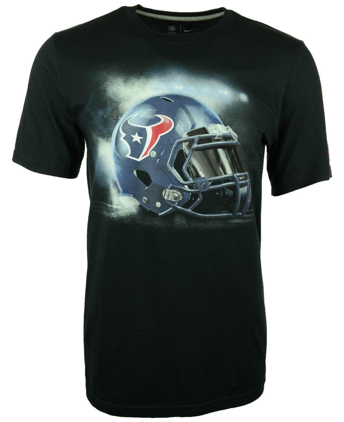 Nike men 39 s houston texans vapor helmet graphic t shirt in for T shirt printing in houston tx