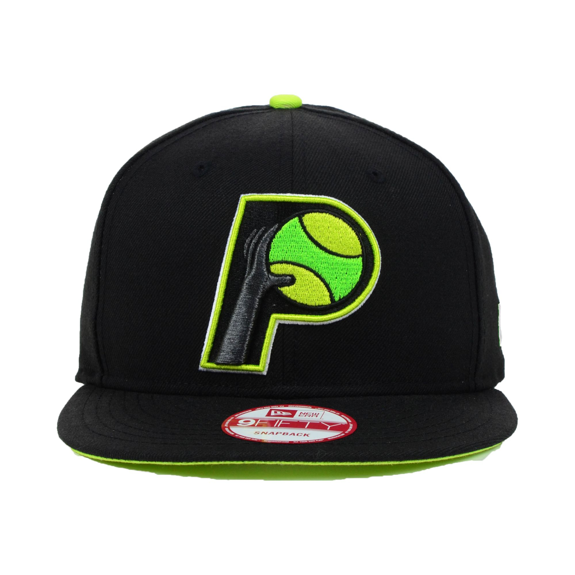 new arrival e6aa7 c303a KTZ Indiana Pacers Hardwood Classics Neon Time 9fifty Snapback Cap ...