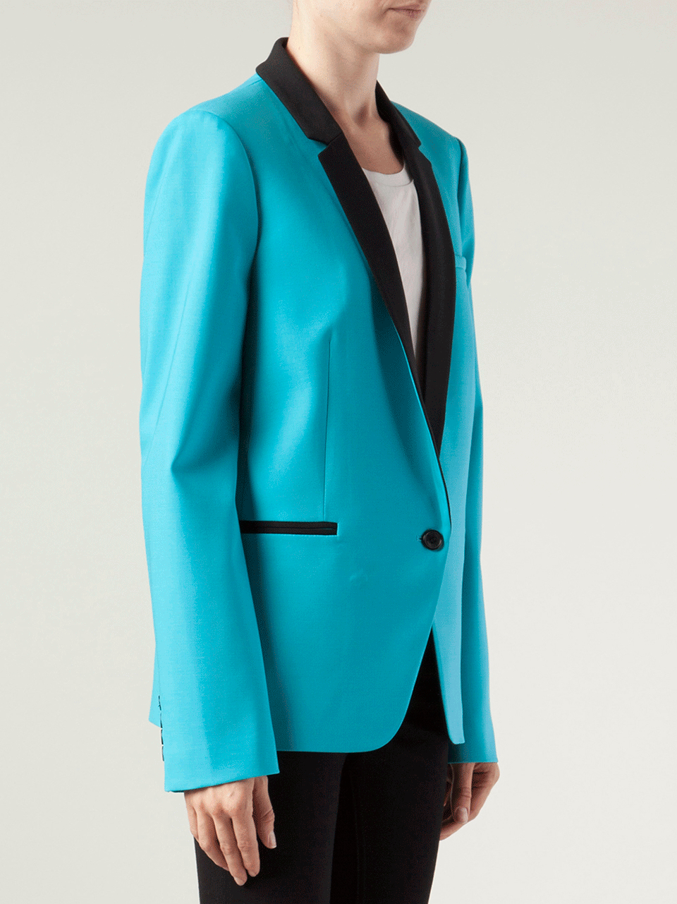 Lyst Michael Kors One Button Tuxedo Jacket In Blue