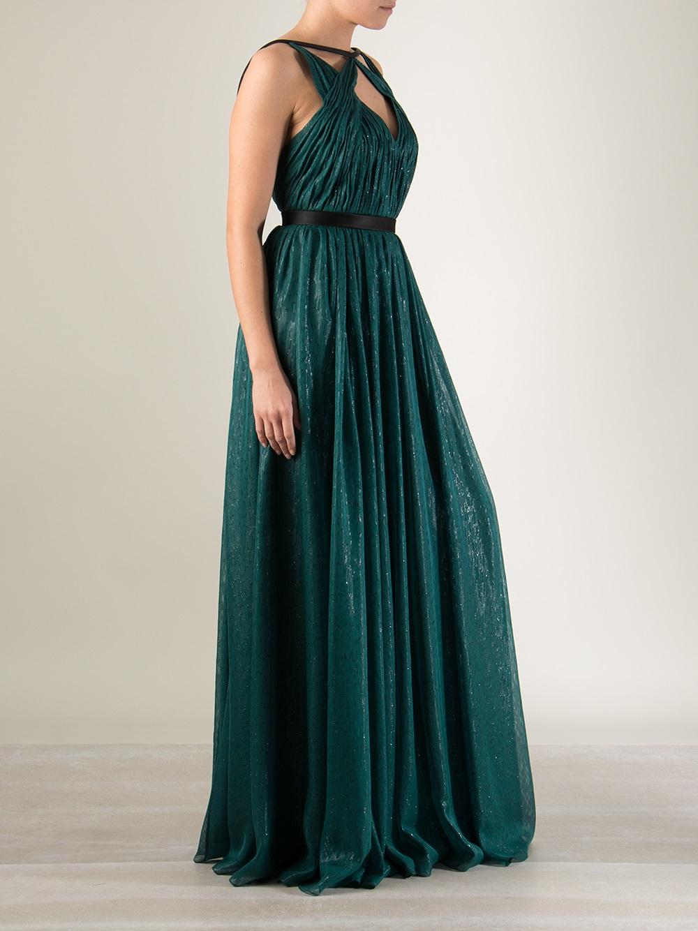 Lyst - Jason Wu Silk Lamé Gown in Green