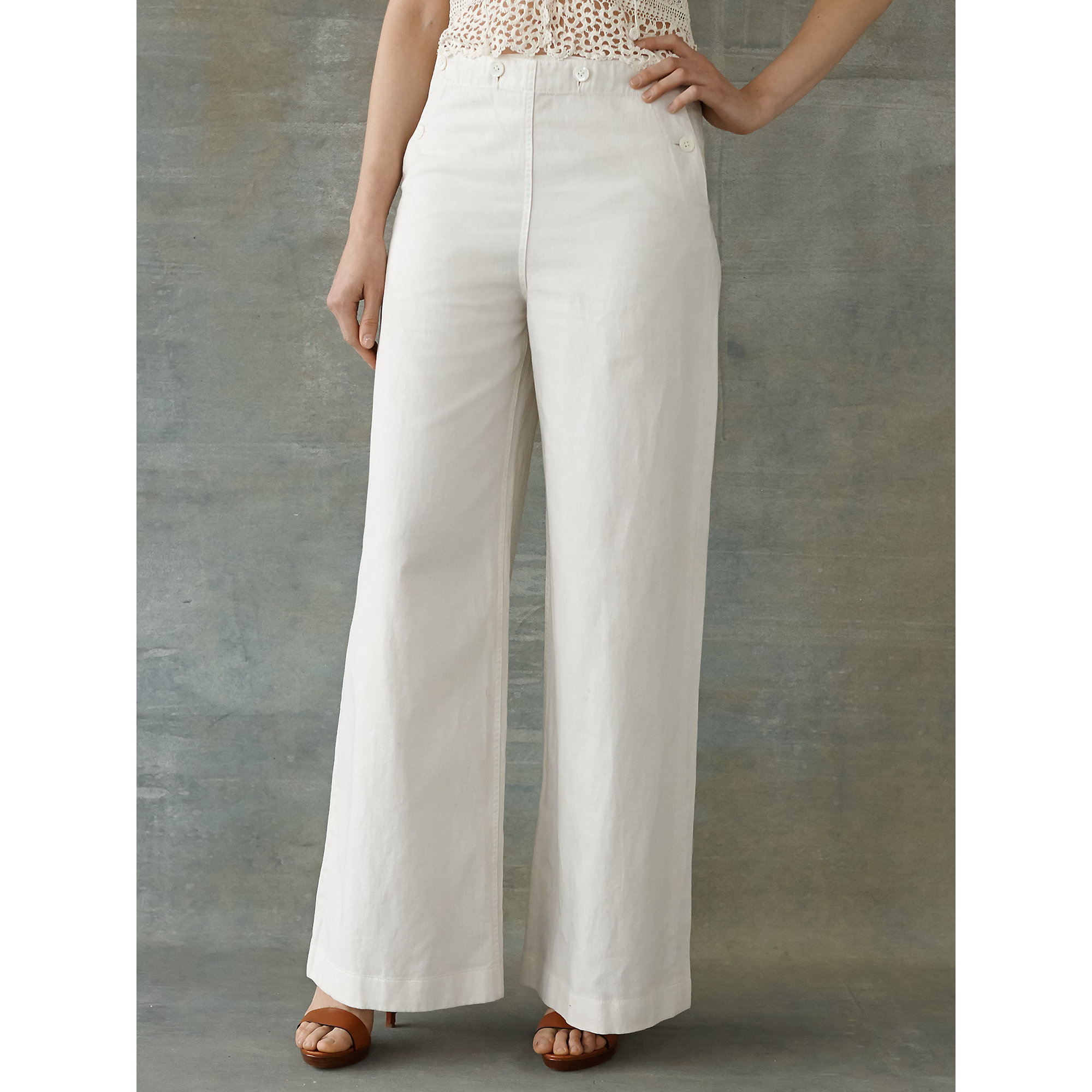 Rrl Wide-leg Sailor Pant in White | Lyst