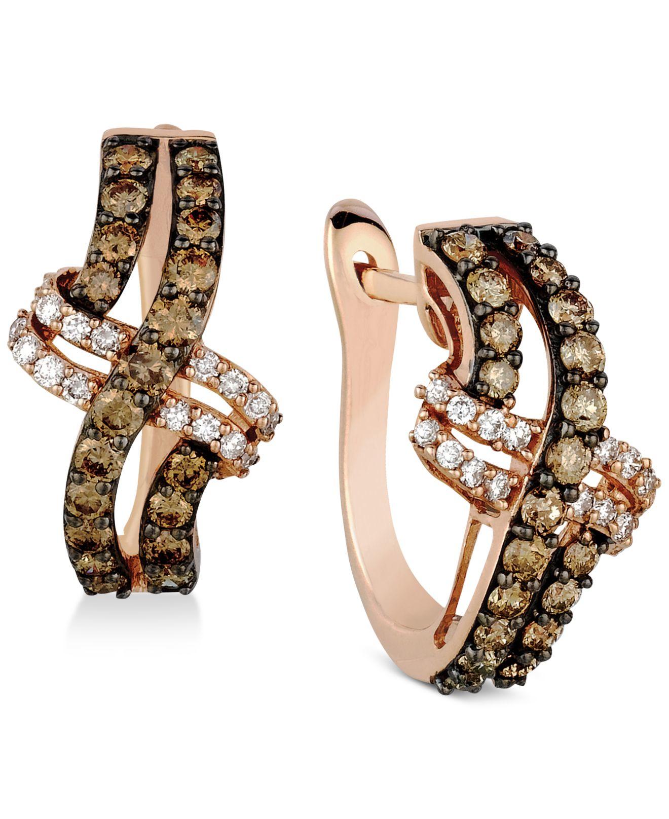 Lyst Macy S Le Vian Diamond Weave Style Hinge Back