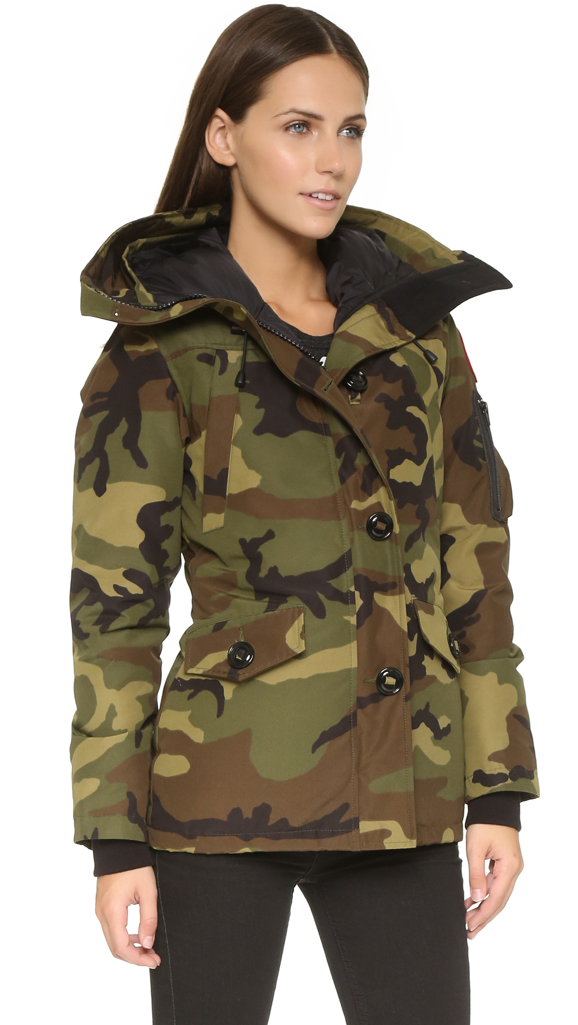Canada Goose Chelsea Coyote Fur Parka In Green Lyst
