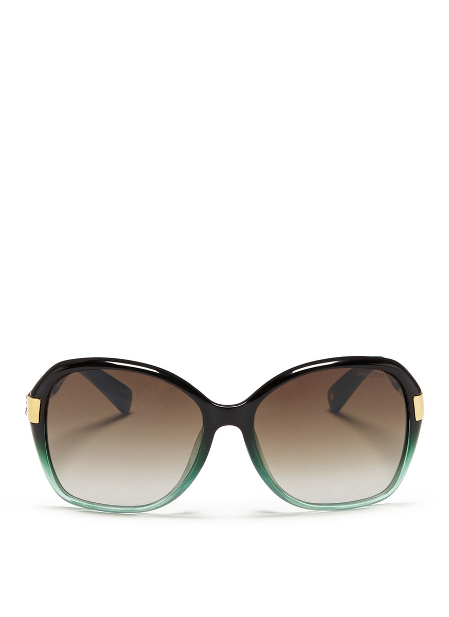 080671d315b1 Lyst - Jimmy Choo  alana  Crystal Temple Ombré Acetate Sunglasses in ...
