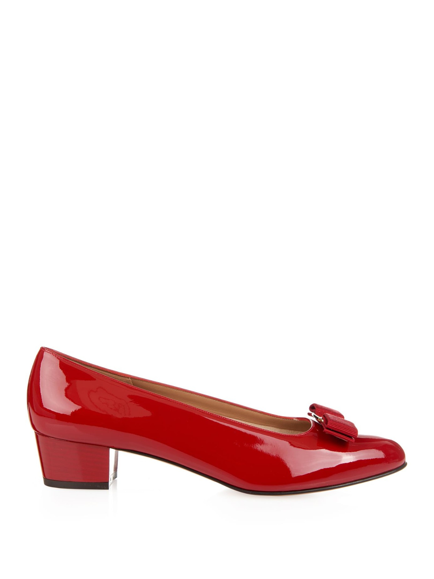 Ferragamo Red Bow Shoes