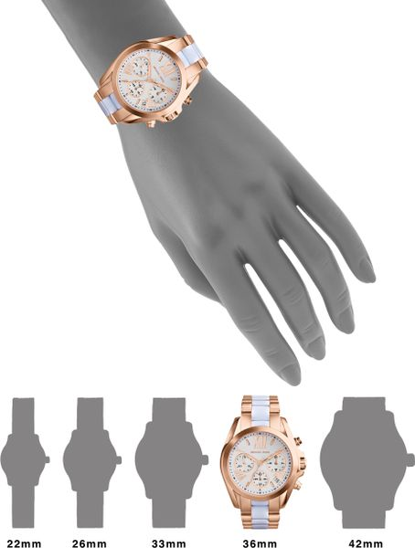 Rose Gold Watch Michael Kors Chronograph Gold Michael Kors Rose