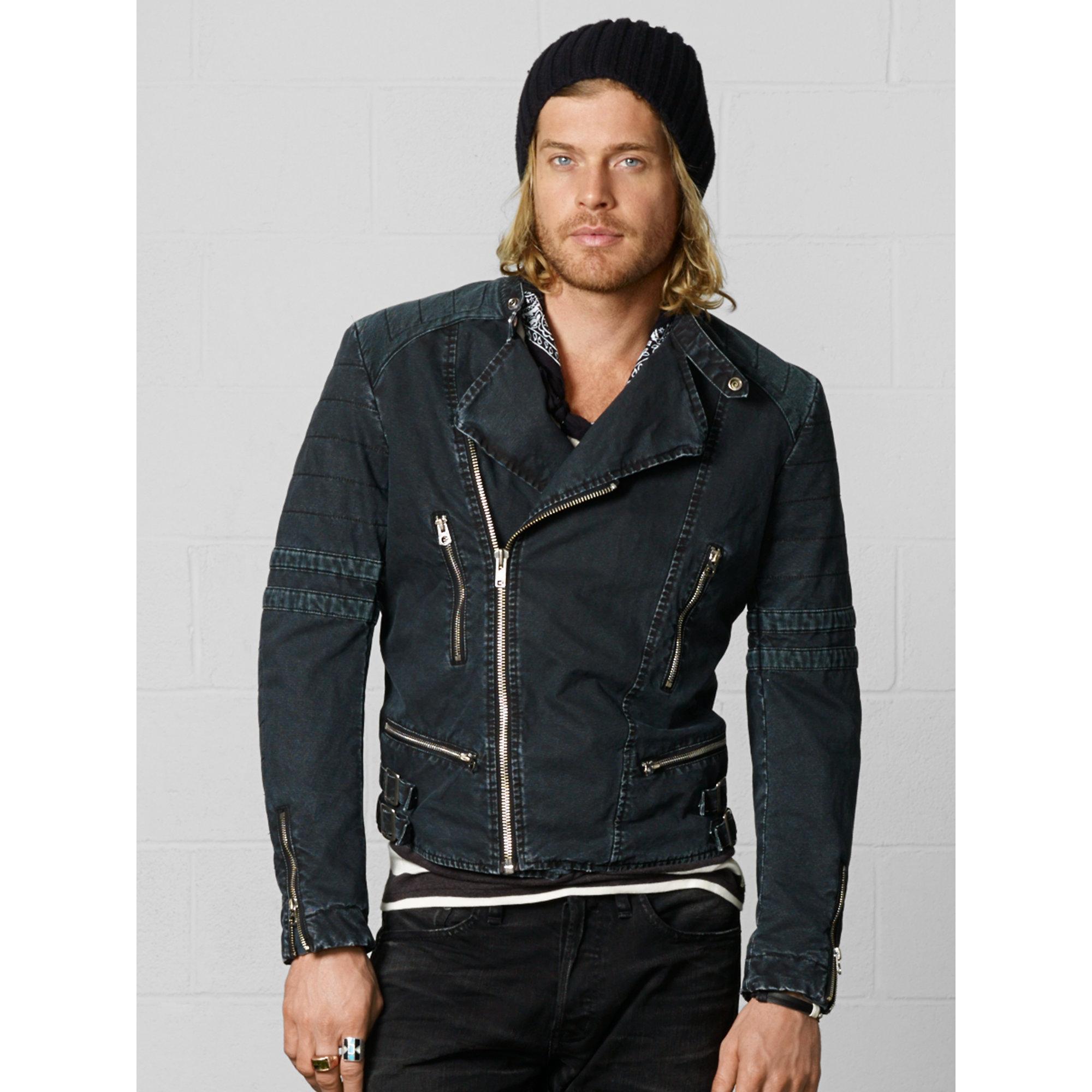 Denim & supply ralph lauren Motorcycle Jacket in Black for Men | Lyst