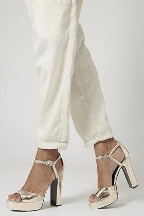 21dc6ba8f84 Lyst - TOPSHOP Lena Metallic Platform Sandals in Metallic