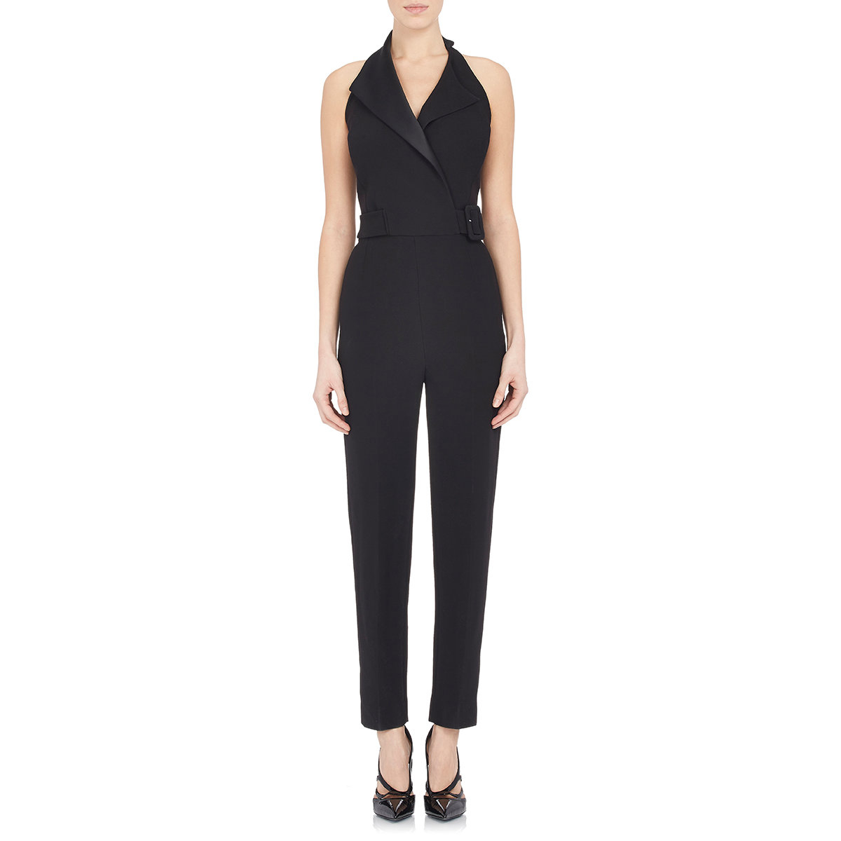 62d346d821f Lyst - Balenciaga Buckle Tailored Jumpsuit in Black