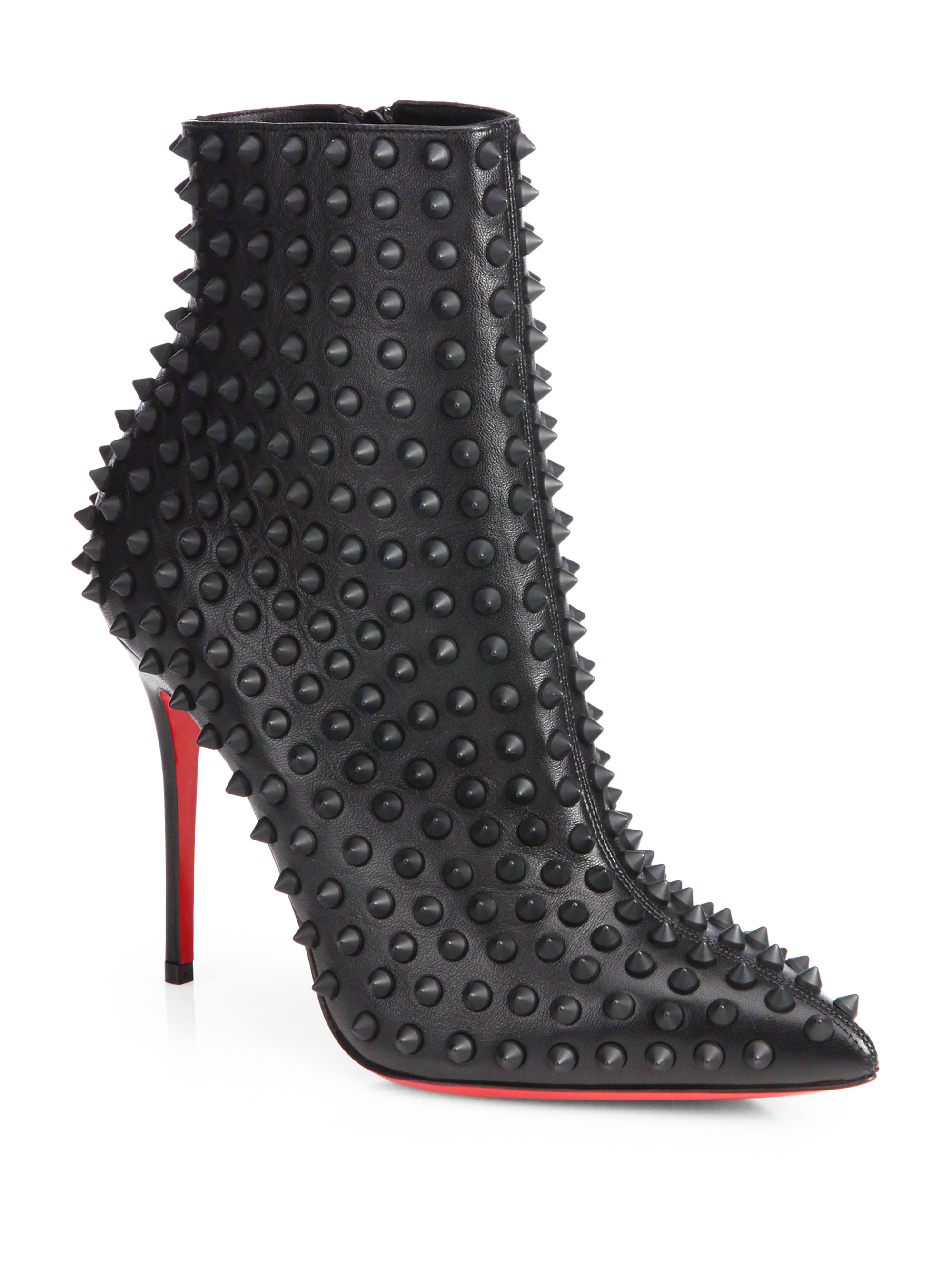 Lyst Christian Louboutin Snakilta Spiked Leather Ankle