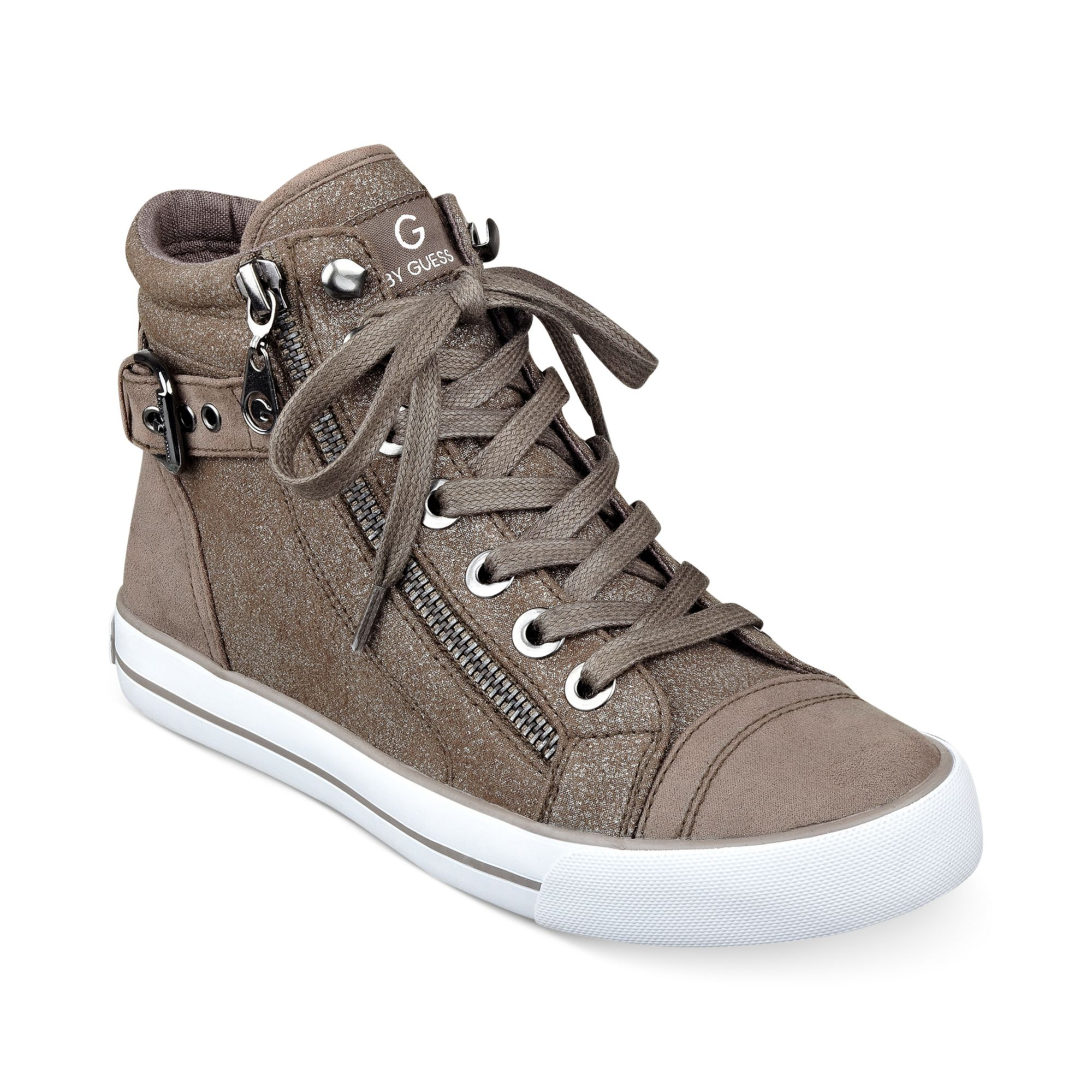 89de6a58a748 Lyst - G by Guess Womens Olama High Top Sneakers in Gray