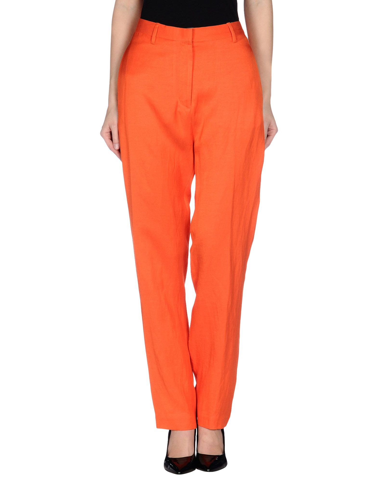 Amazing Brand Bright Orange Skinny Leg Pants Women