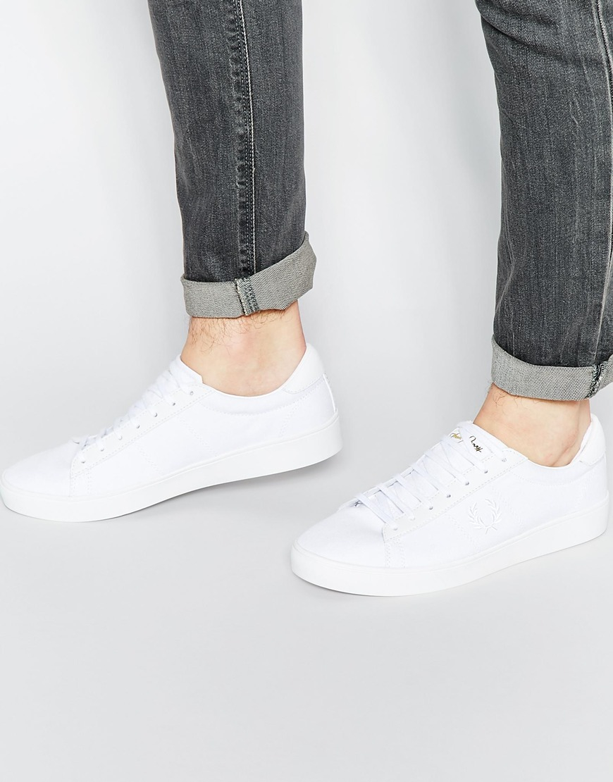 Spencer Leather Trainer - White Fred Perry