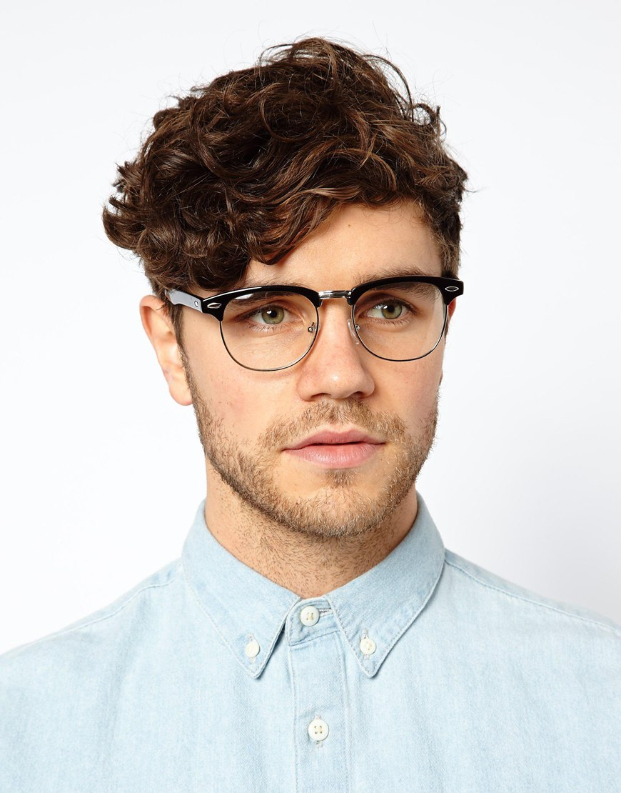 Clubmaster Glasses Look