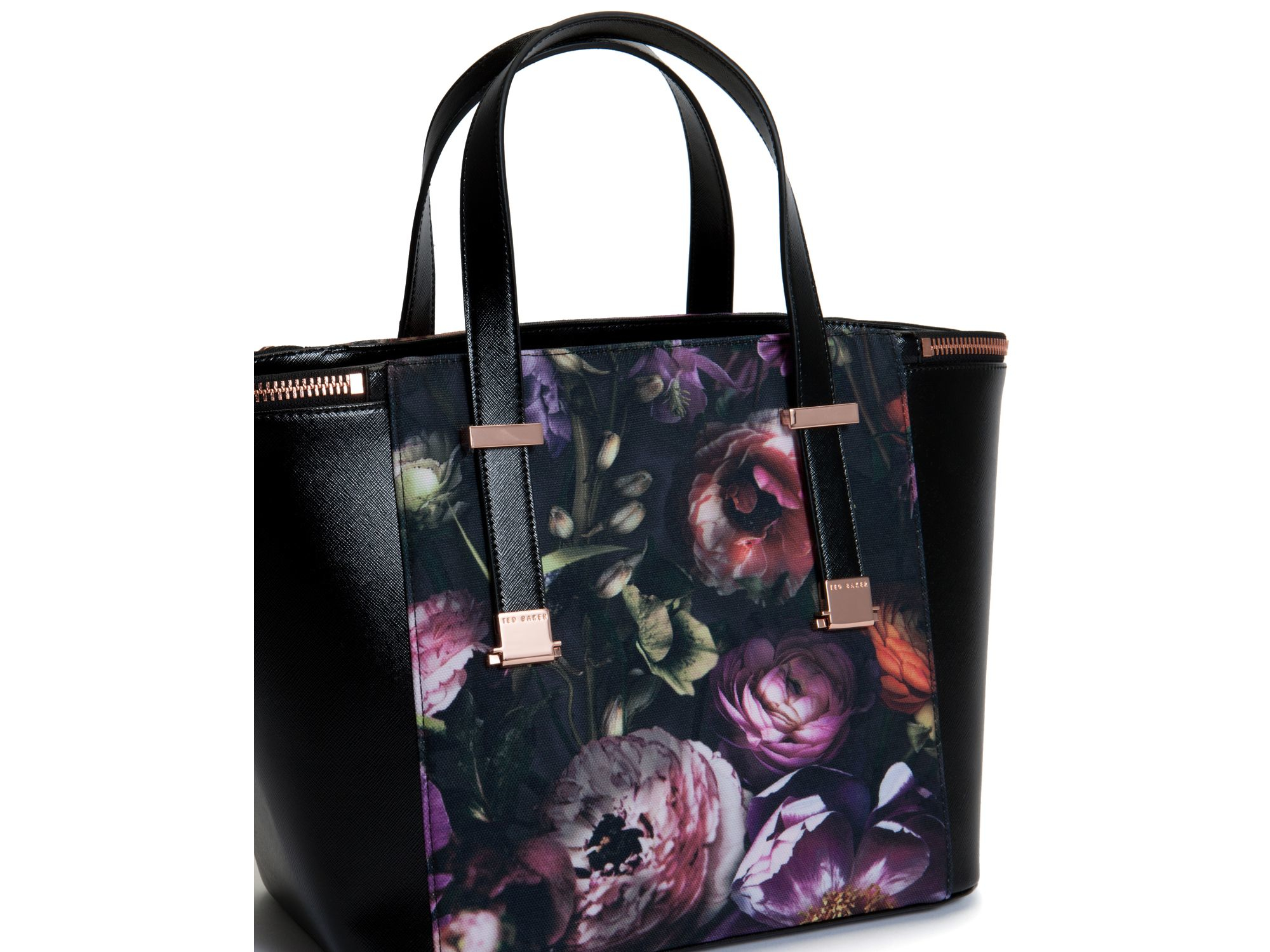 2ef24022ef7f5 Lyst - Ted Baker Prisila Shadow Floral Tote in Black
