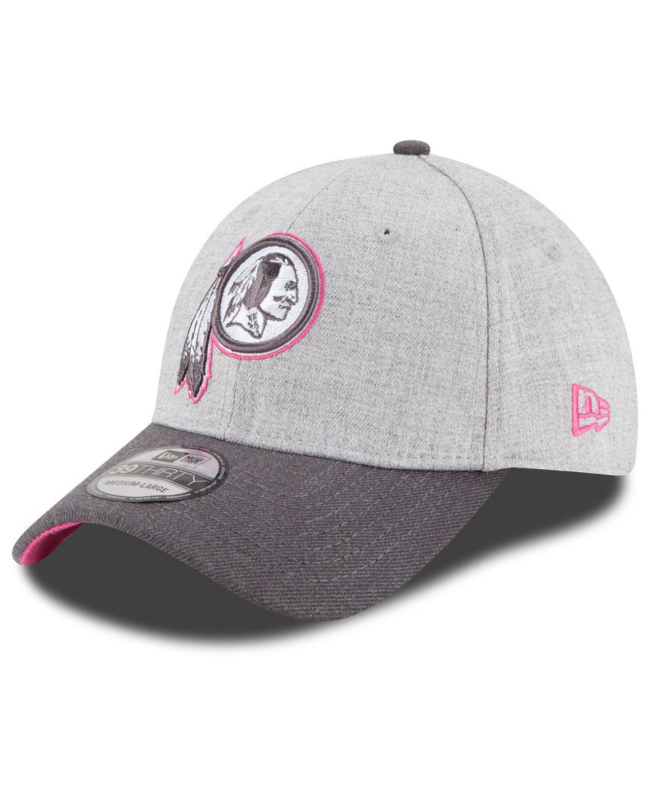 4c3ebd7c8 KTZ Washington Redskins Breast Cancer Awareness 39thirty Cap in Gray ...