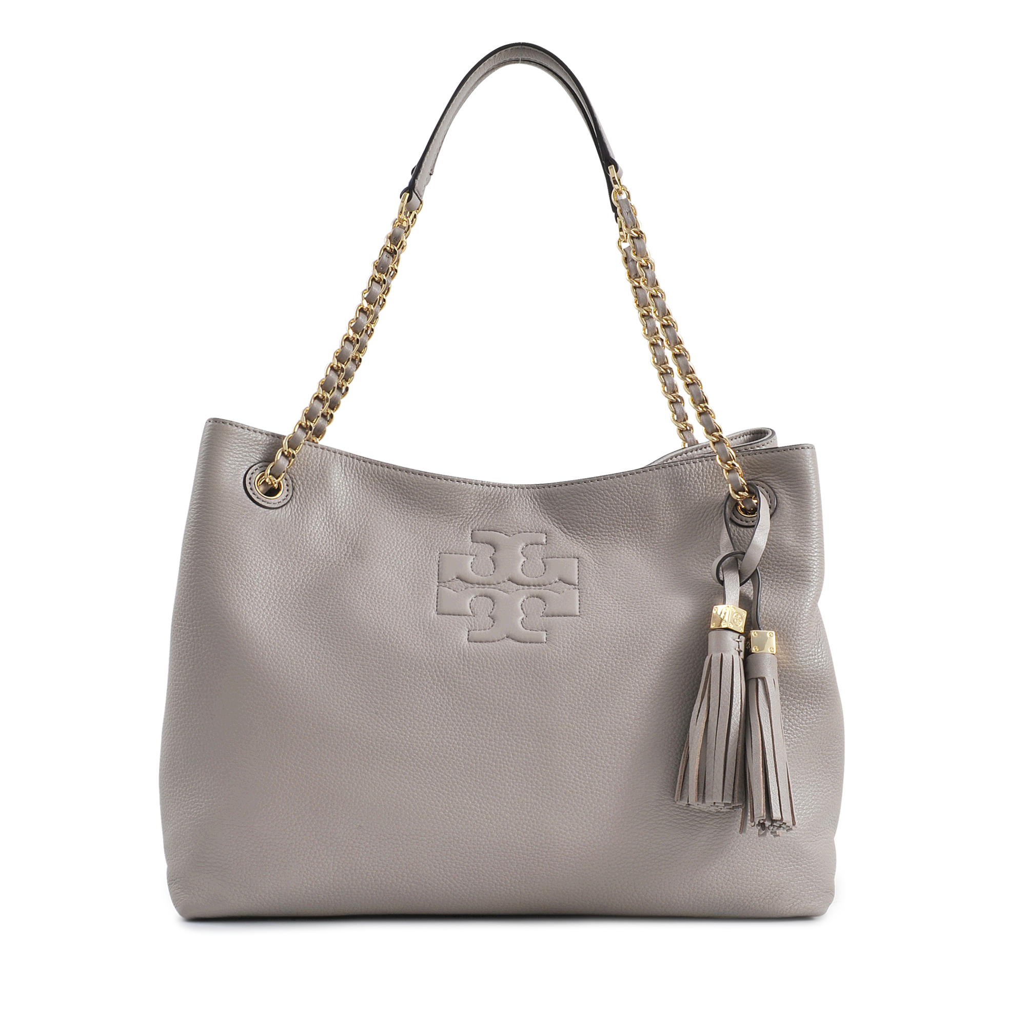 255260873201 Tory Burch Thea Chain Shoulder Slouchy Tote in Gray - Lyst