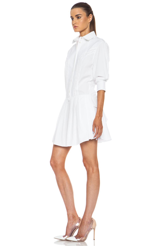Lyst Nina Ricci Cotton Shirt Dress In White