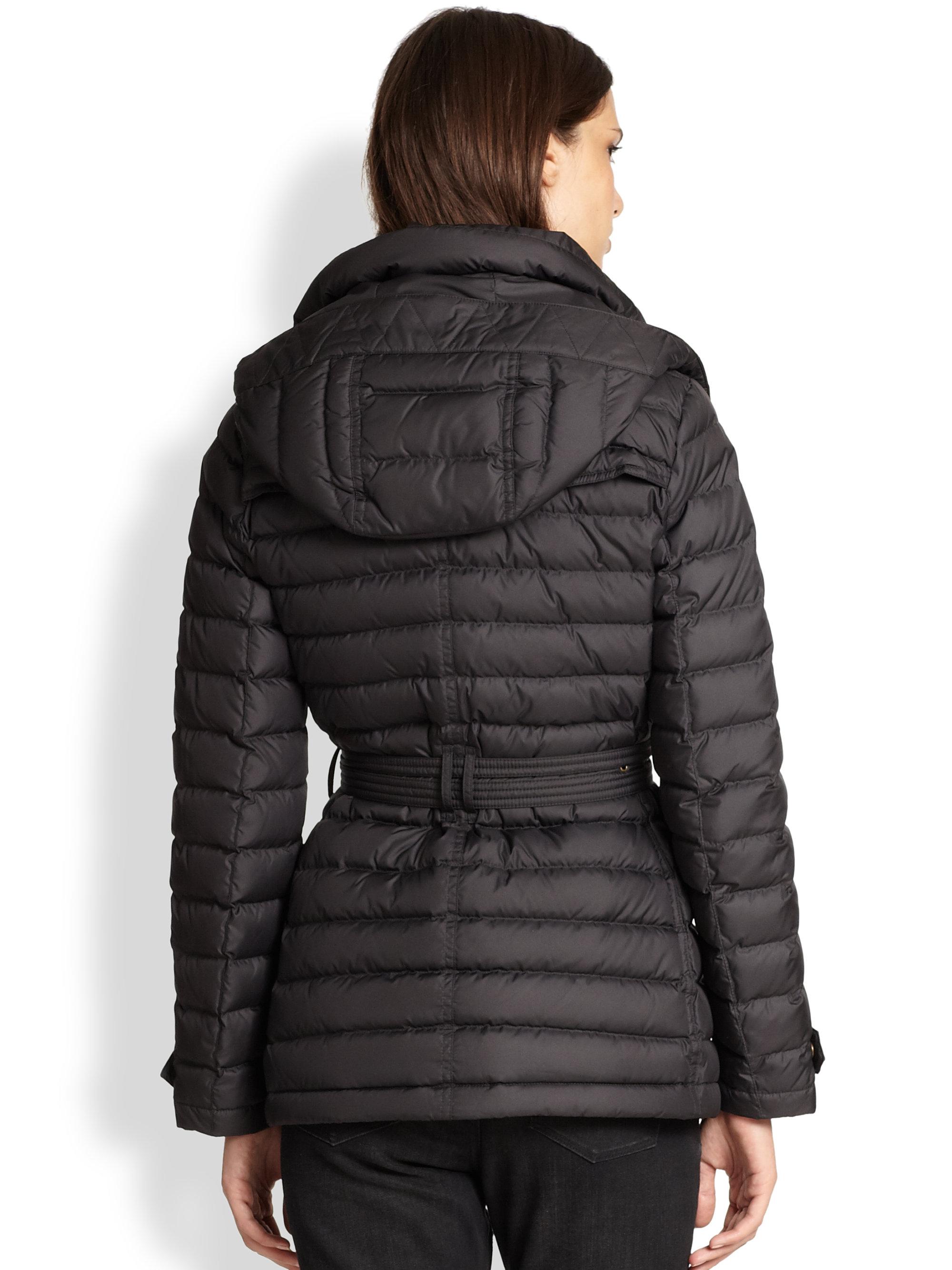 Burberry Brit Cornsdale Puffer Coat In Black Lyst