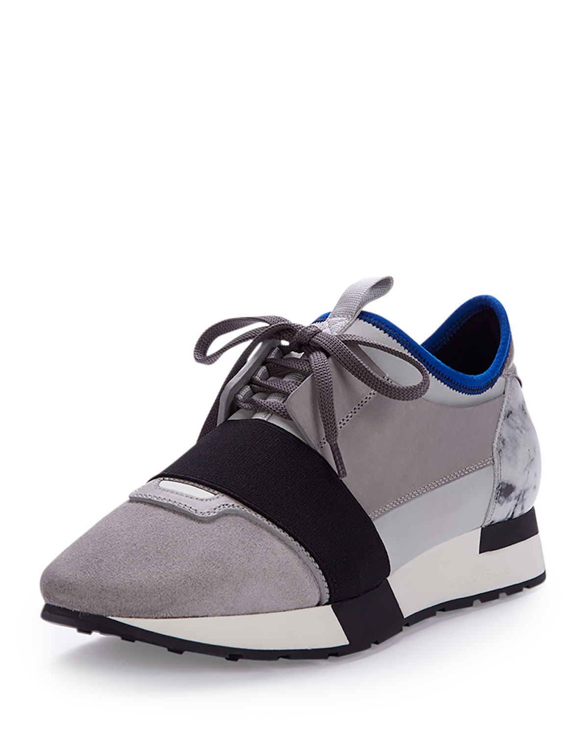27ed05721b03 Lyst - Balenciaga Mixed-media Leather Sneaker in Gray
