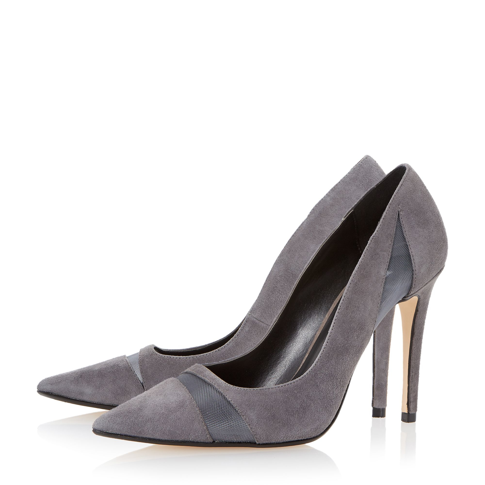 Grey High Heeled Court Shoes