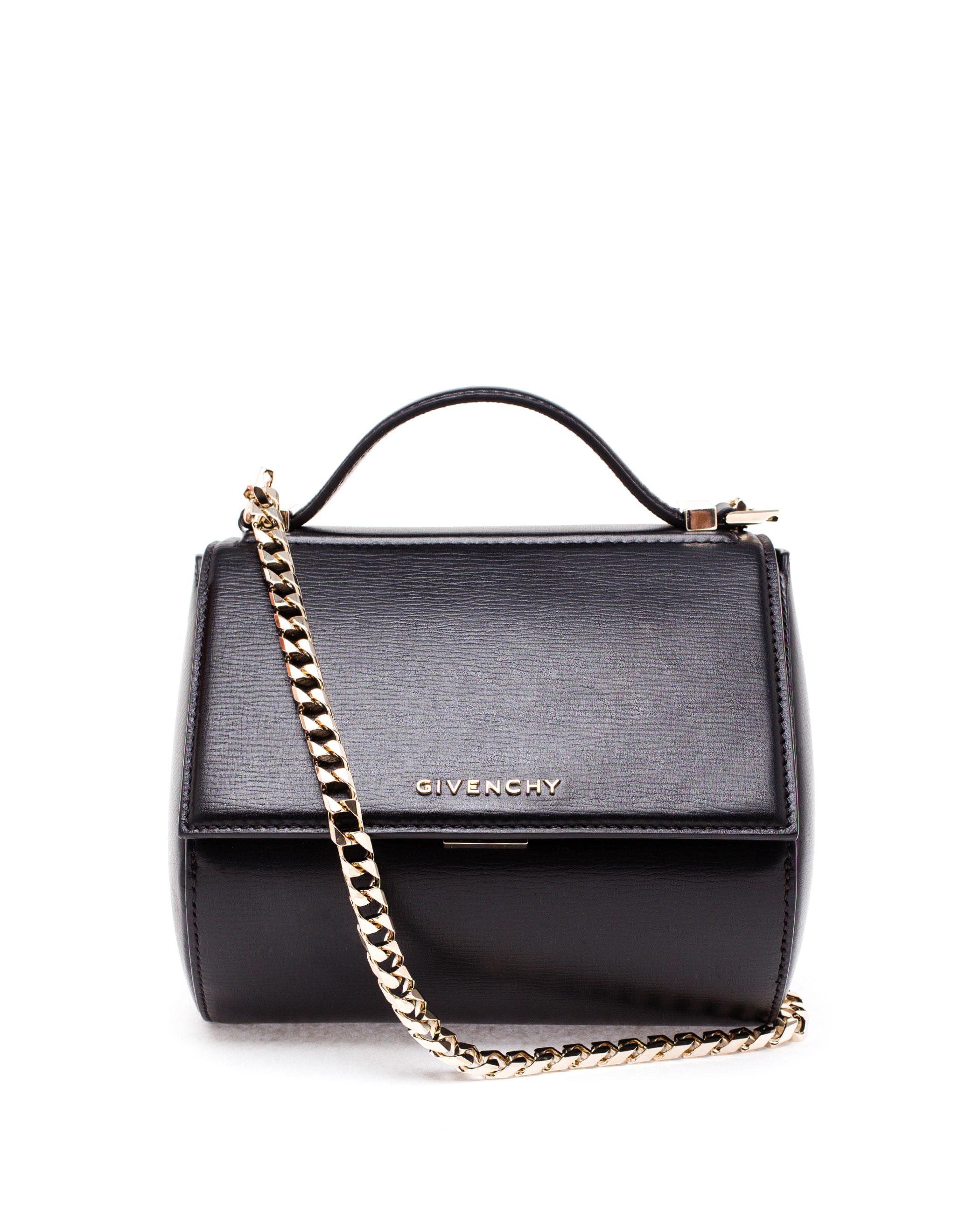 4751304d88 Givenchy Mini Leather Pandora Box Bag in Black - Lyst