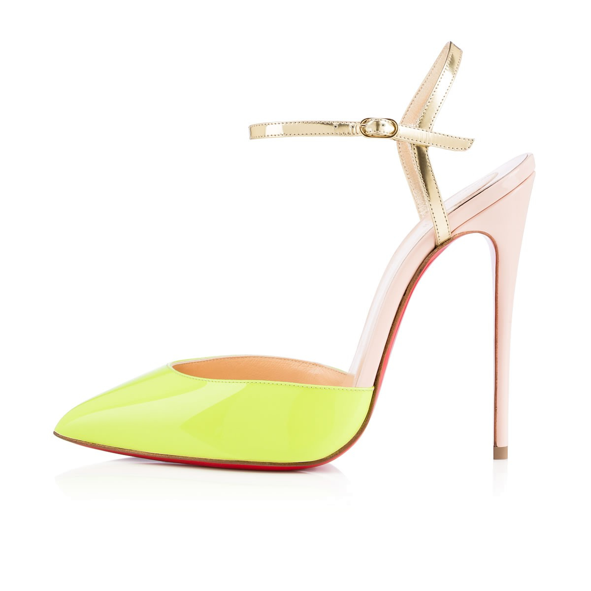 ab30b742e7b7 Lyst - Christian Louboutin Rivierina Color-Blocked Patent Leather ...