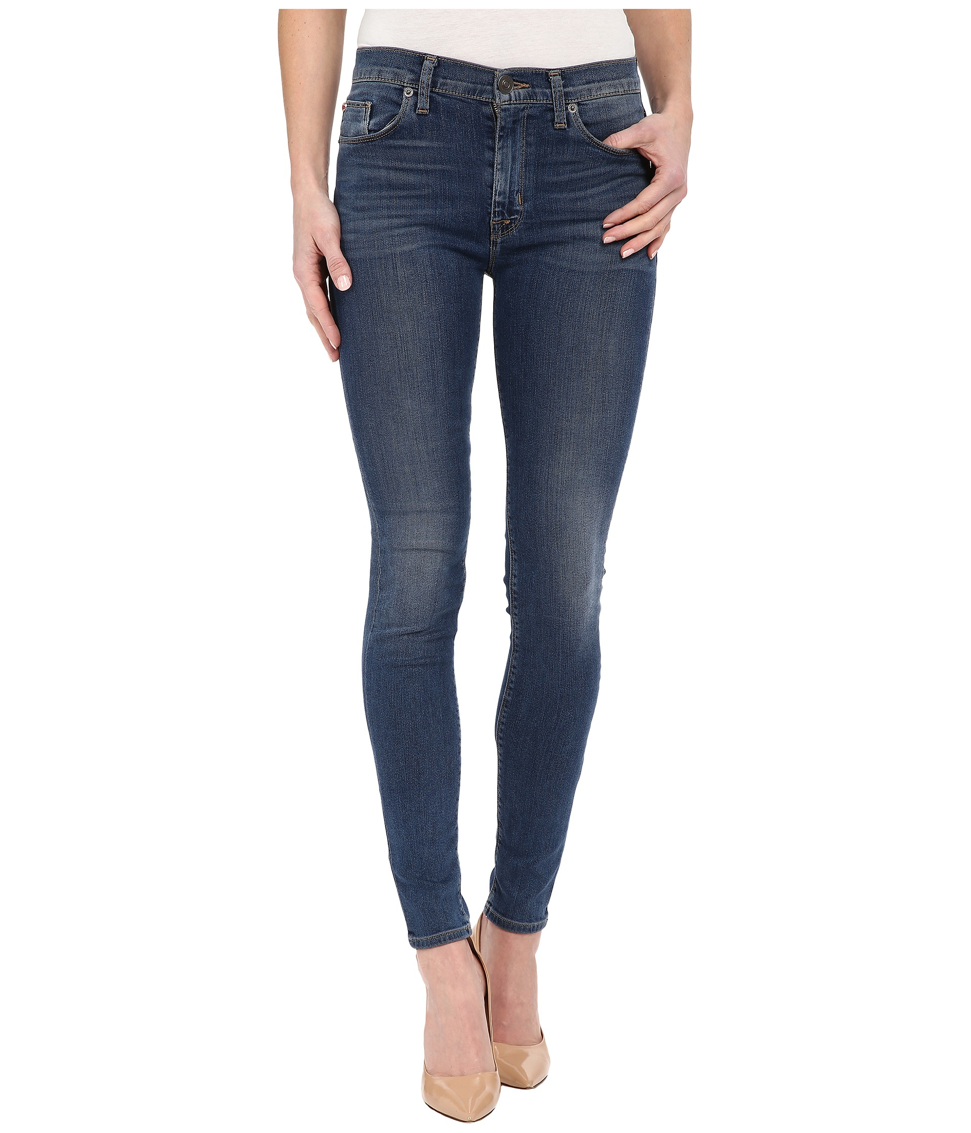6ffabb63f44d Lyst - Hudson Jeans Barbara High Waist Super Skinny In Moonlet in Blue