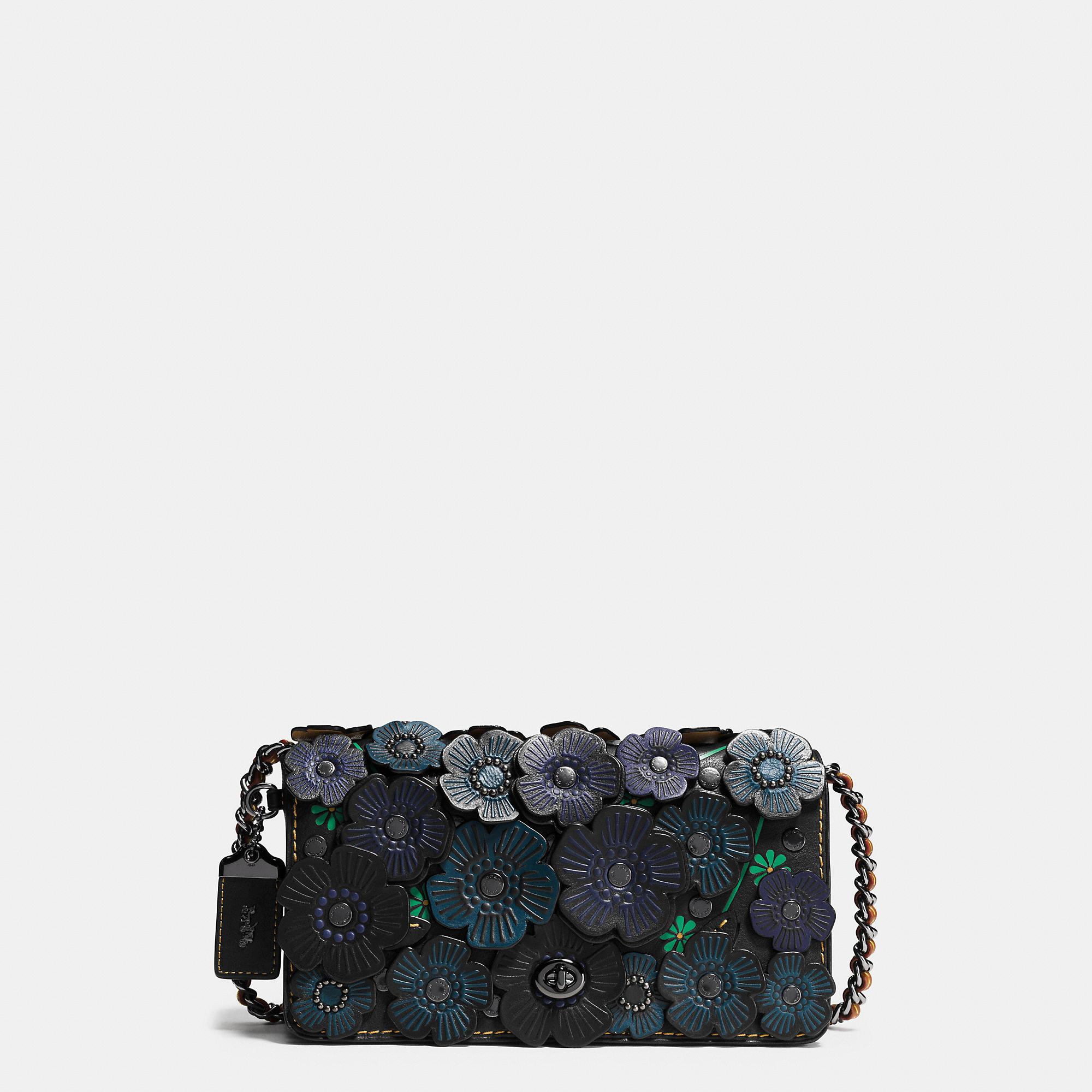 cheap coach black rose appliqué dinky bag lyst. view fullscreen e0967  eff08  clearance coach tea rose applique dinky crossbody in leather lyst  be9a3 21eb4 6b3eee638dc7e