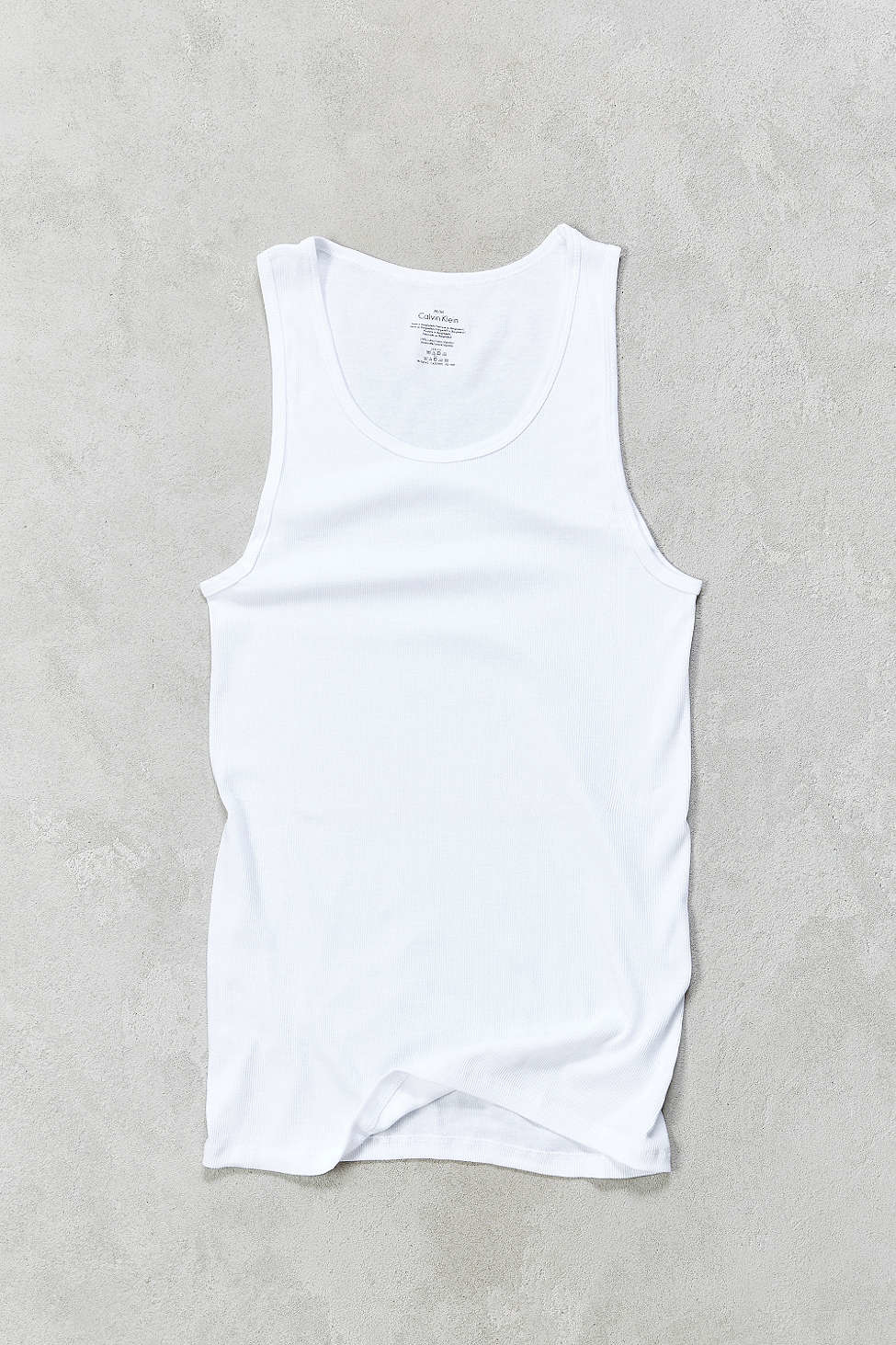 Calvin Klein Ribbed Tank Top 3 Pack In White For Men Lyst