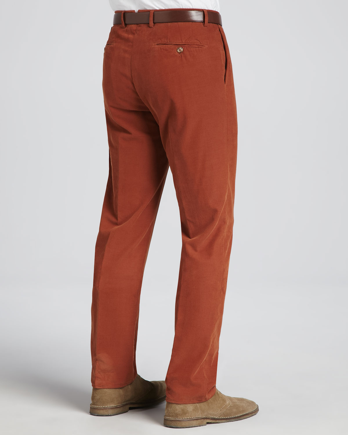 Incotex Fine-wale Corduroy Pants in Brown for Men | Lyst