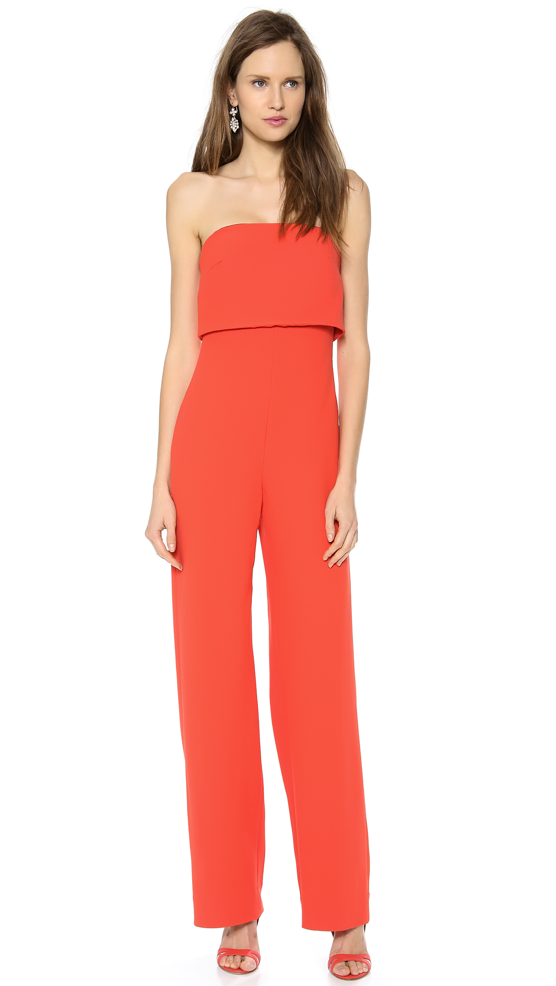 Red Strapless Jumpsuit - Breeze Clothing