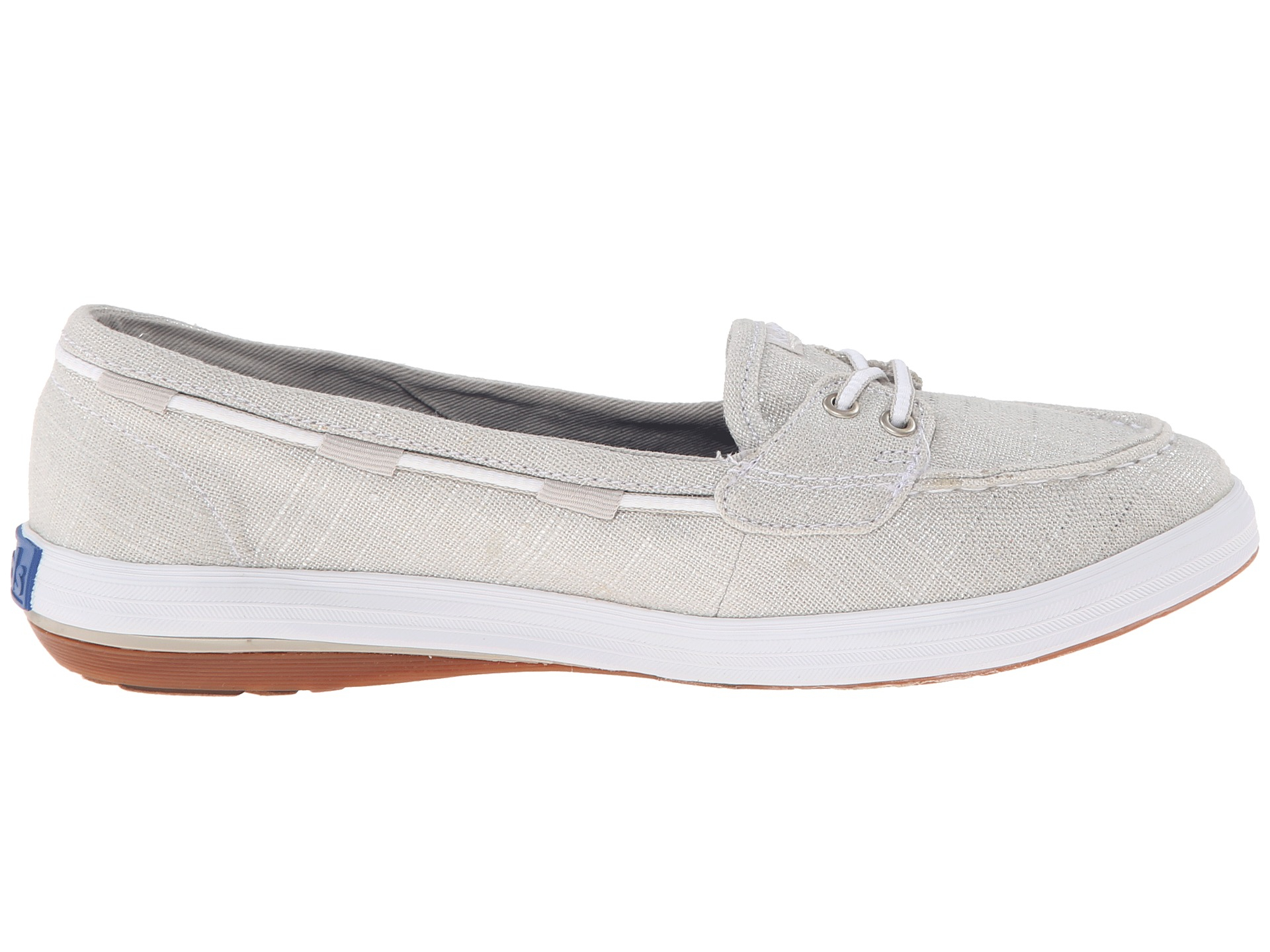6637fa9975 Keds Glimmer Boat Brushed Twill in Metallic - Lyst