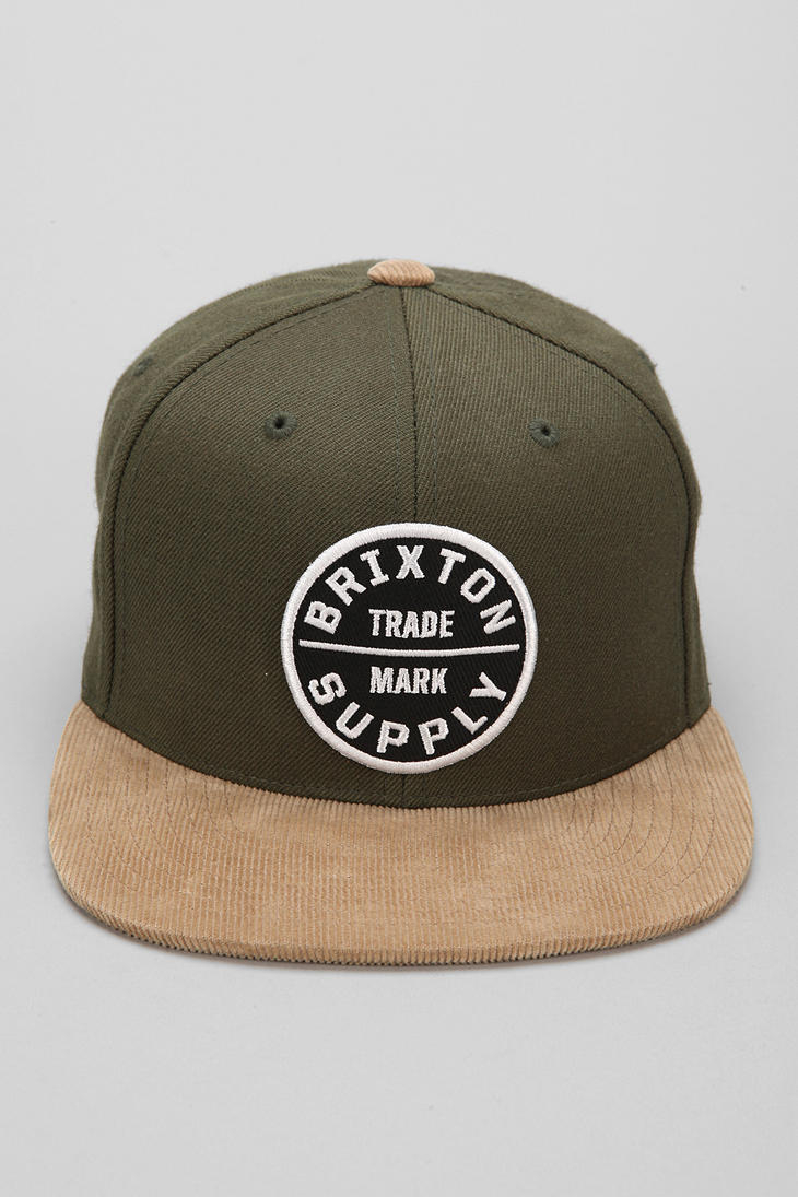 e343b4bf56e Lyst - Urban Outfitters Brixton Oath Iii Snapback Hat in Green for Men