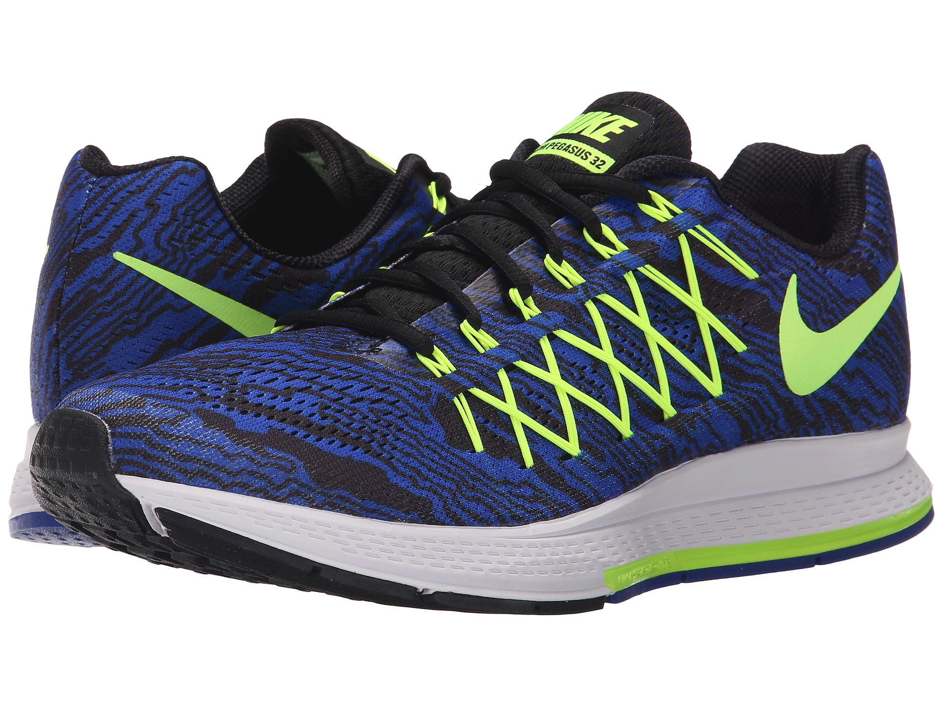 nike air zoom pegasus 32 print in green for men lyst. Black Bedroom Furniture Sets. Home Design Ideas