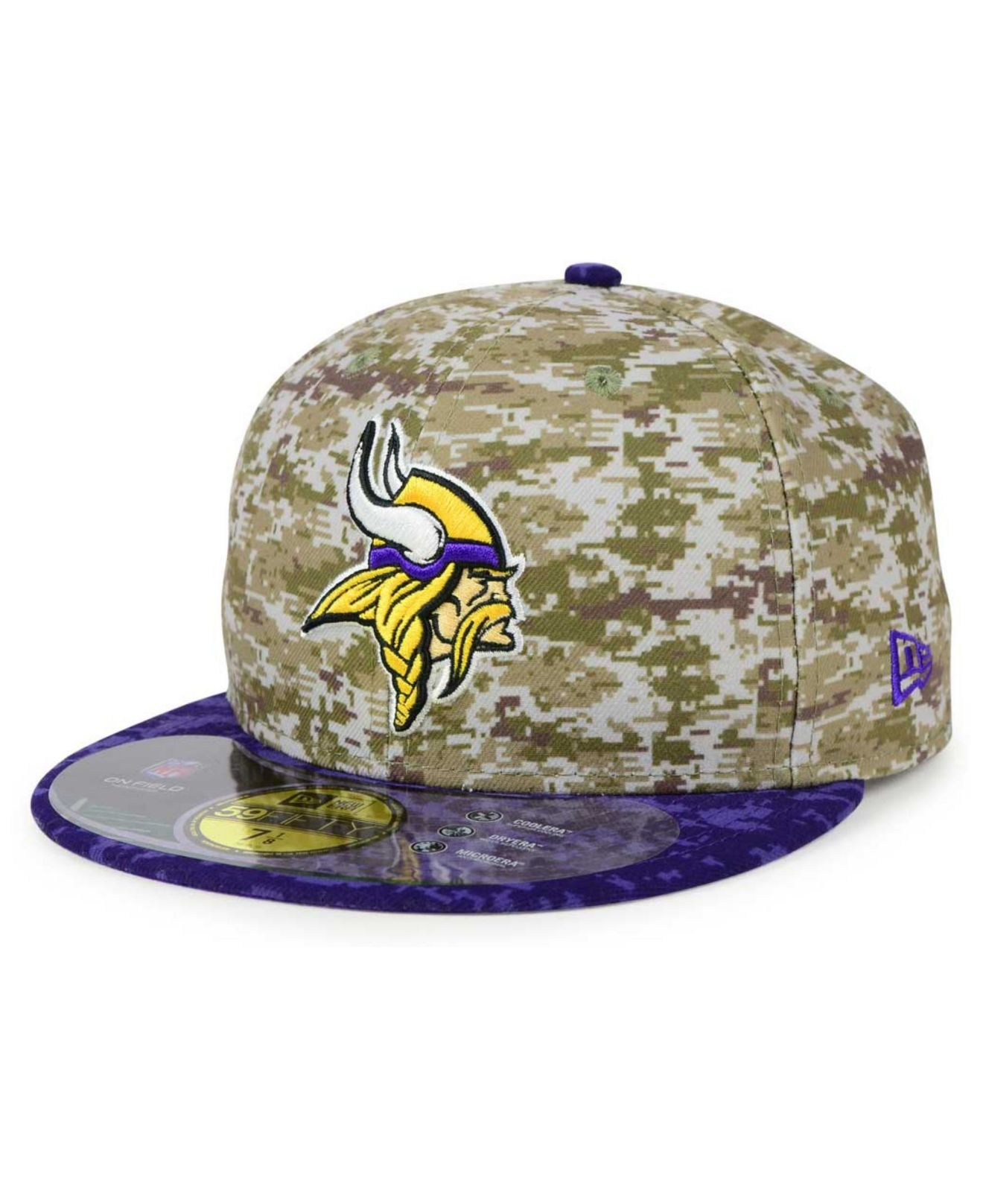 6aacf3ba6 ... New Era NFL 2015 Salute to Service 39THIRTY Cap  low price 27051 e034c  Lyst - Ktz Minnesota Vikings Salute To Service 59fifty Cap in Blue ...