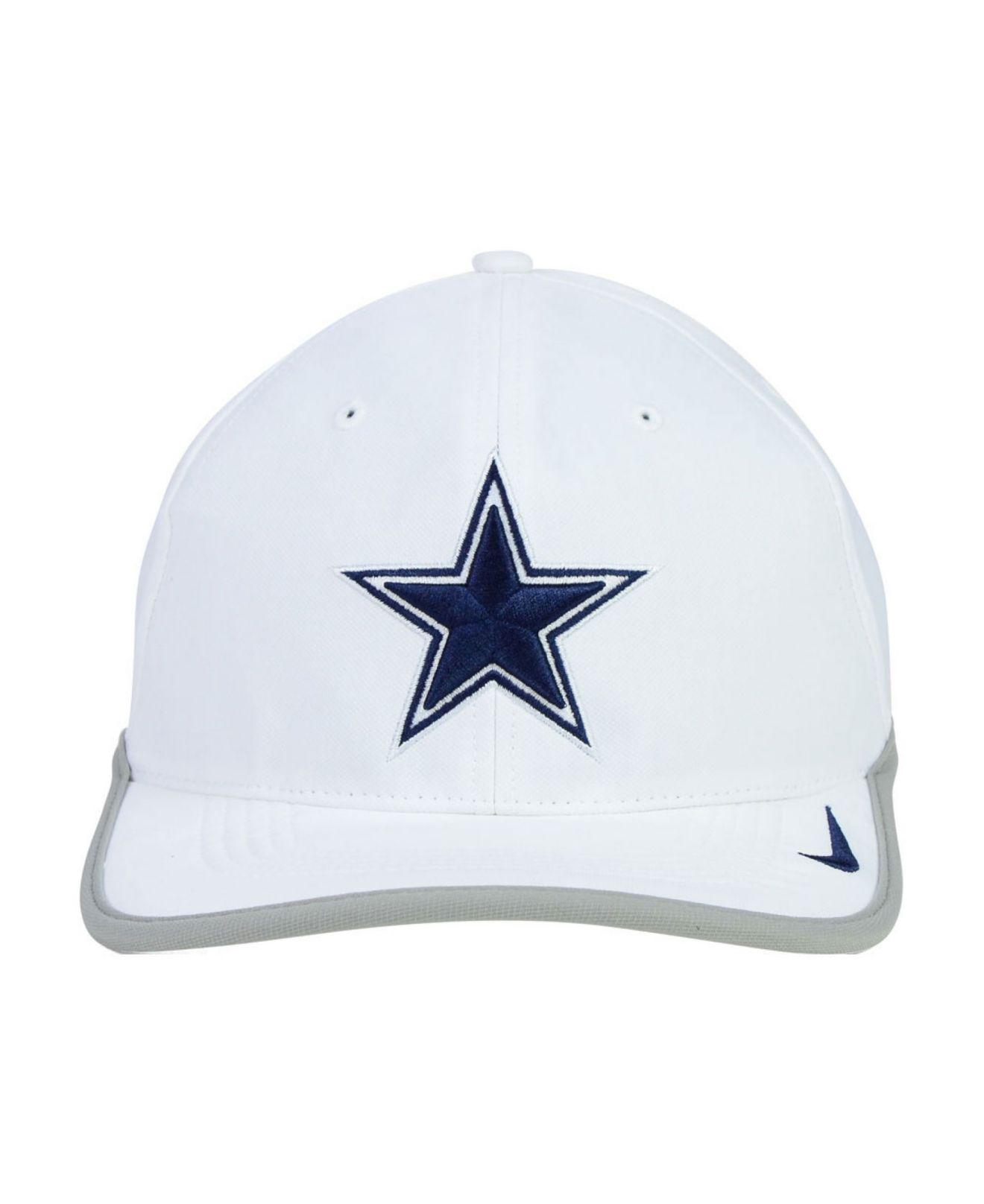 ... get lyst nike dallas cowboys legacy 91 dri fit cap in white 9890d 29cc8 1a6f15187675