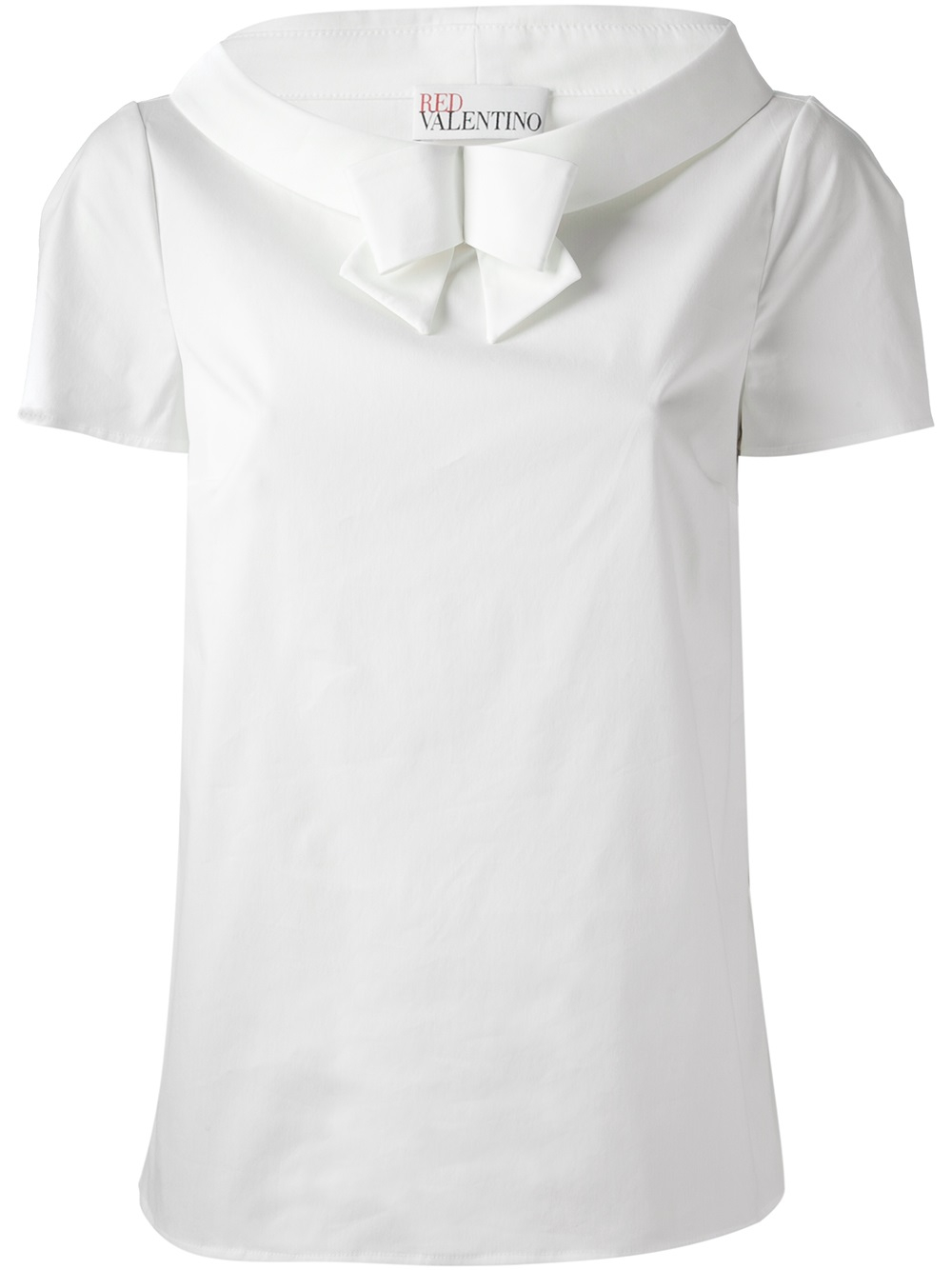 lyst red valentino bow front t shirt in white ForRed Valentino T Shirt